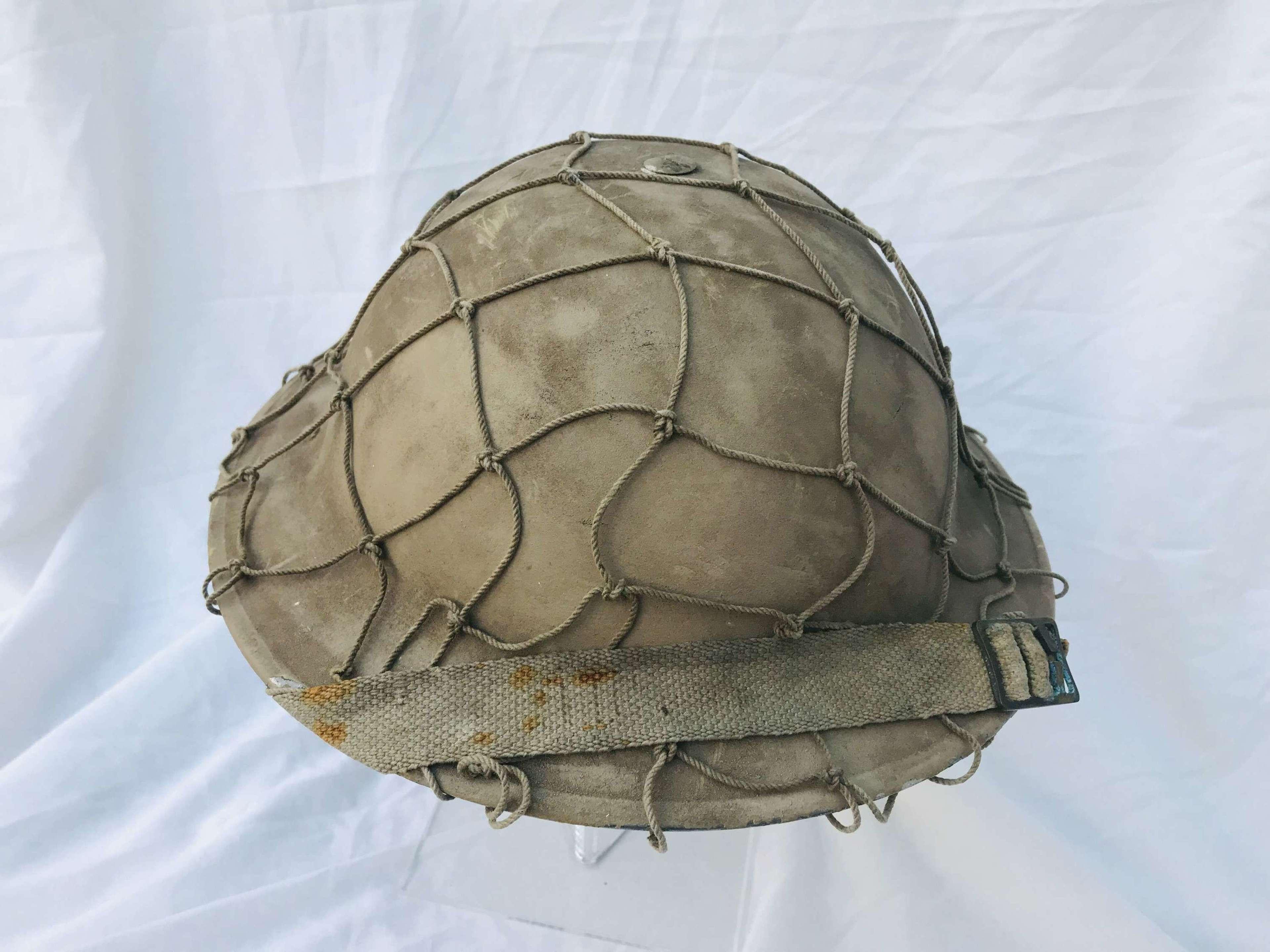 1939 Dated British helmet refurbished for re-enactment