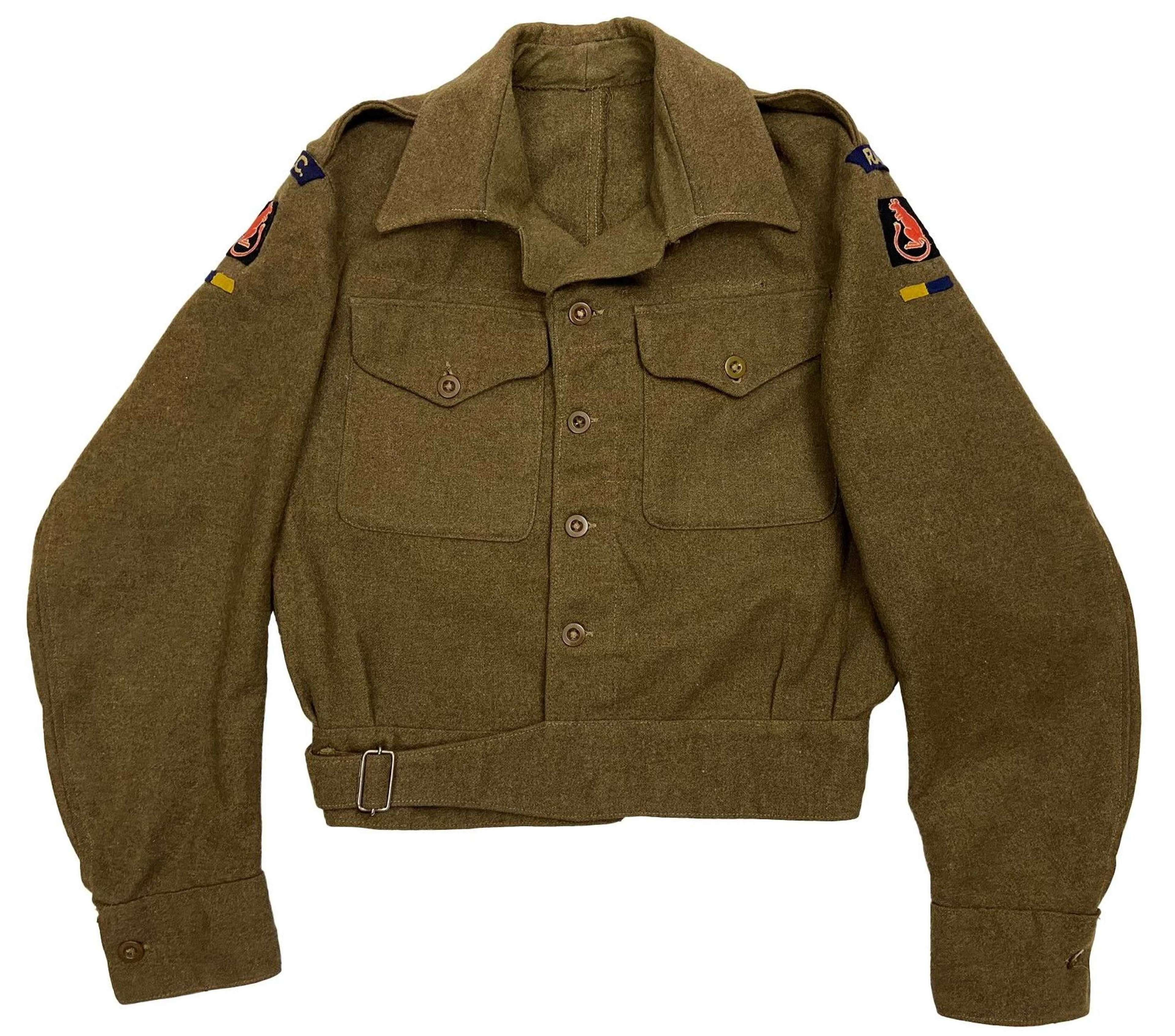 Original WW2 7th Armoured Division RASC Battledress Blouse