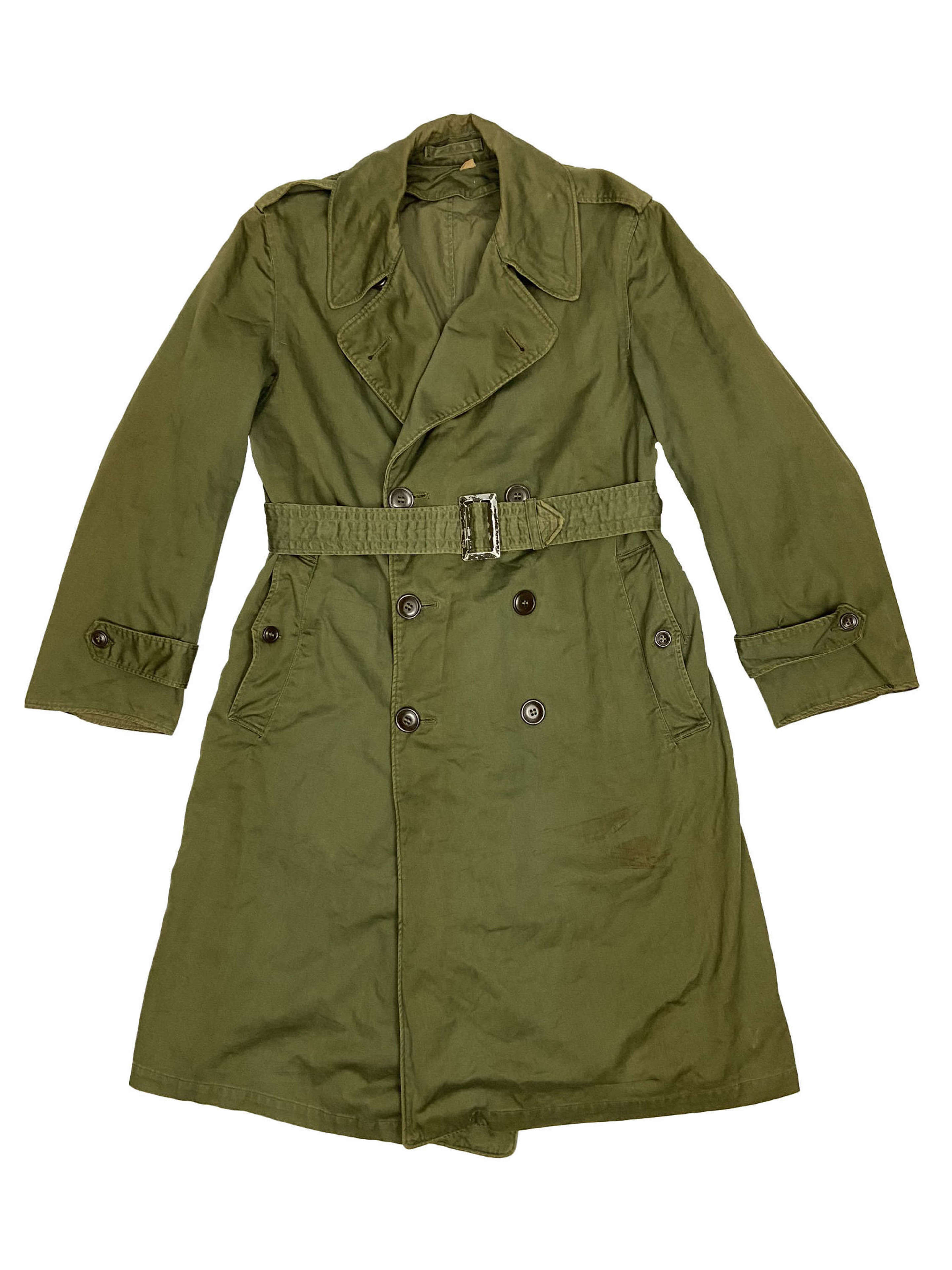 Original 1953 Dated US Army O.G. 107 Raincoat - Size Short Small