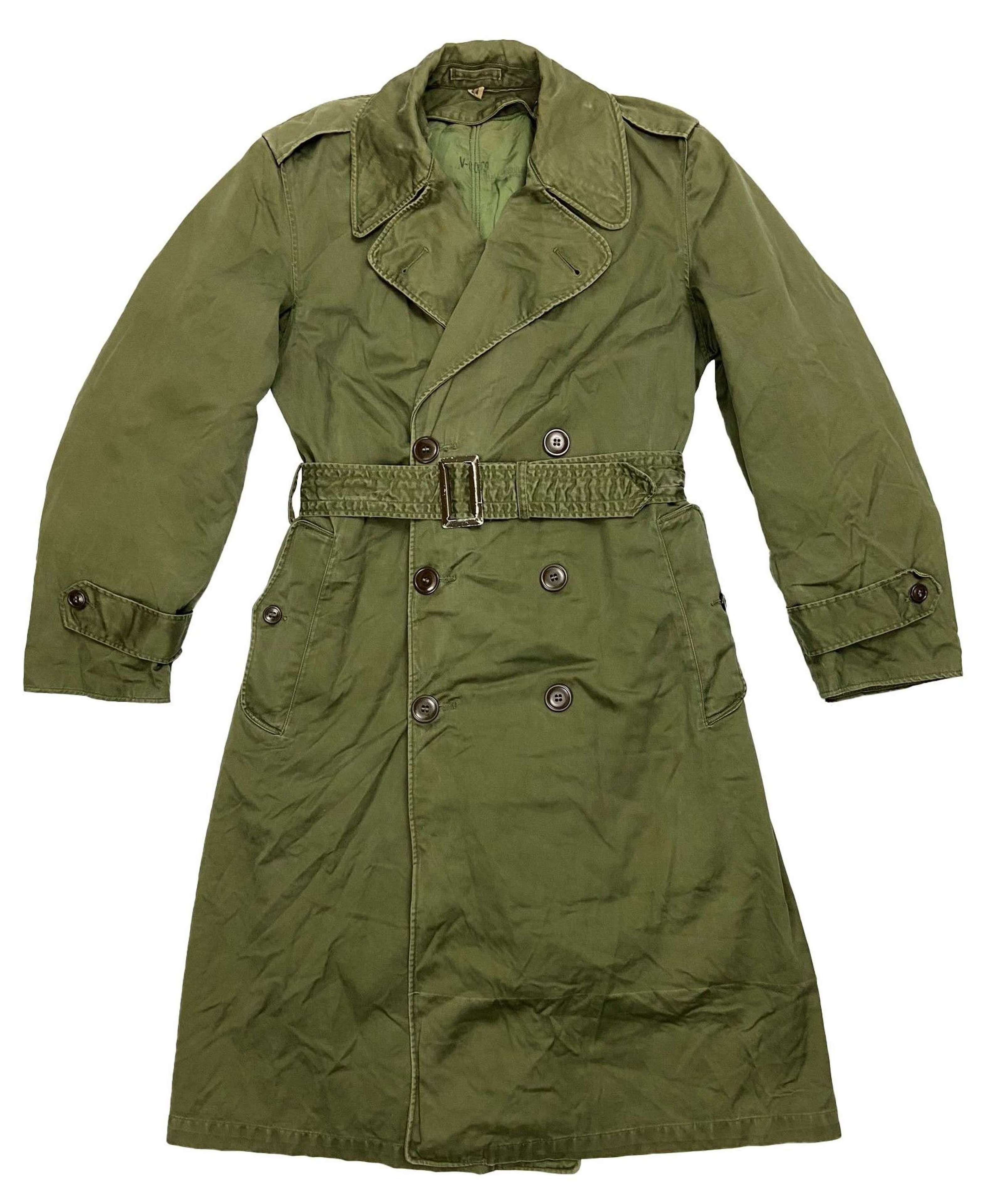 Original 1958 Dated US Army O.G 107 Raincoat - Size Regular Small