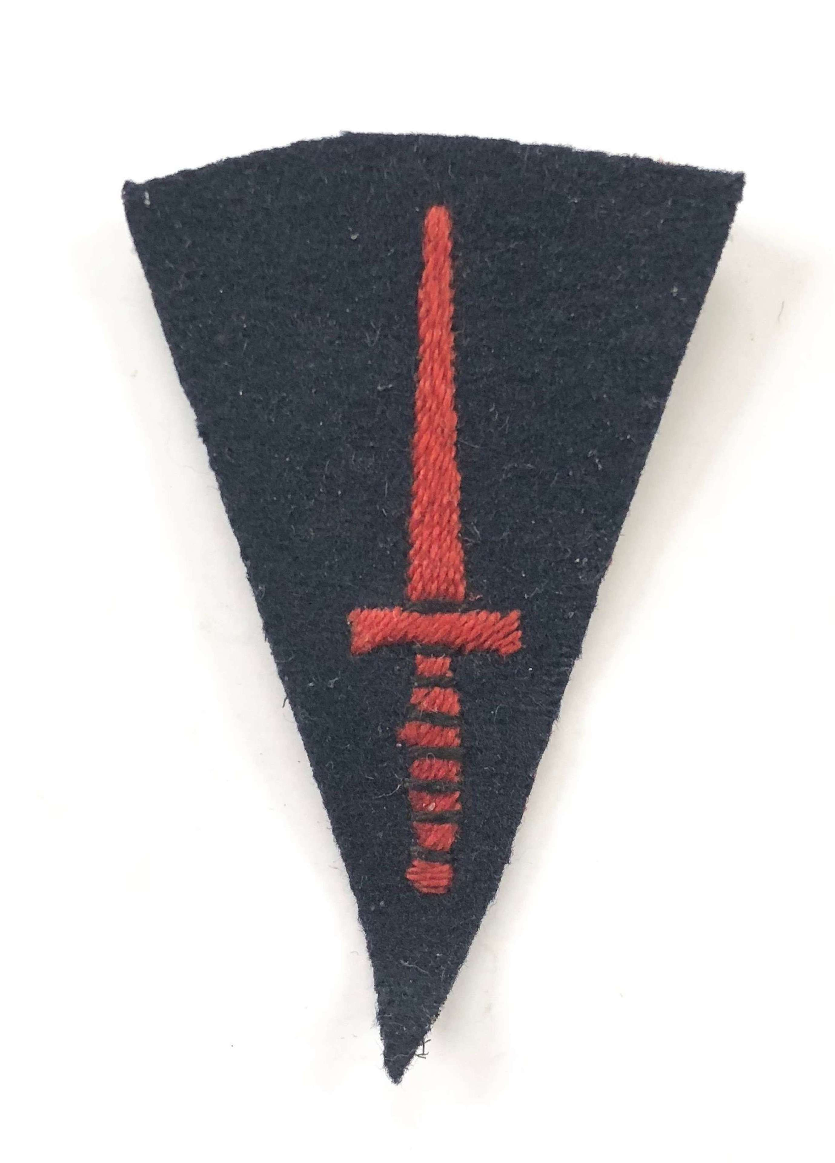 WW2 Royal Marine Commando Knife Cloth Badge.