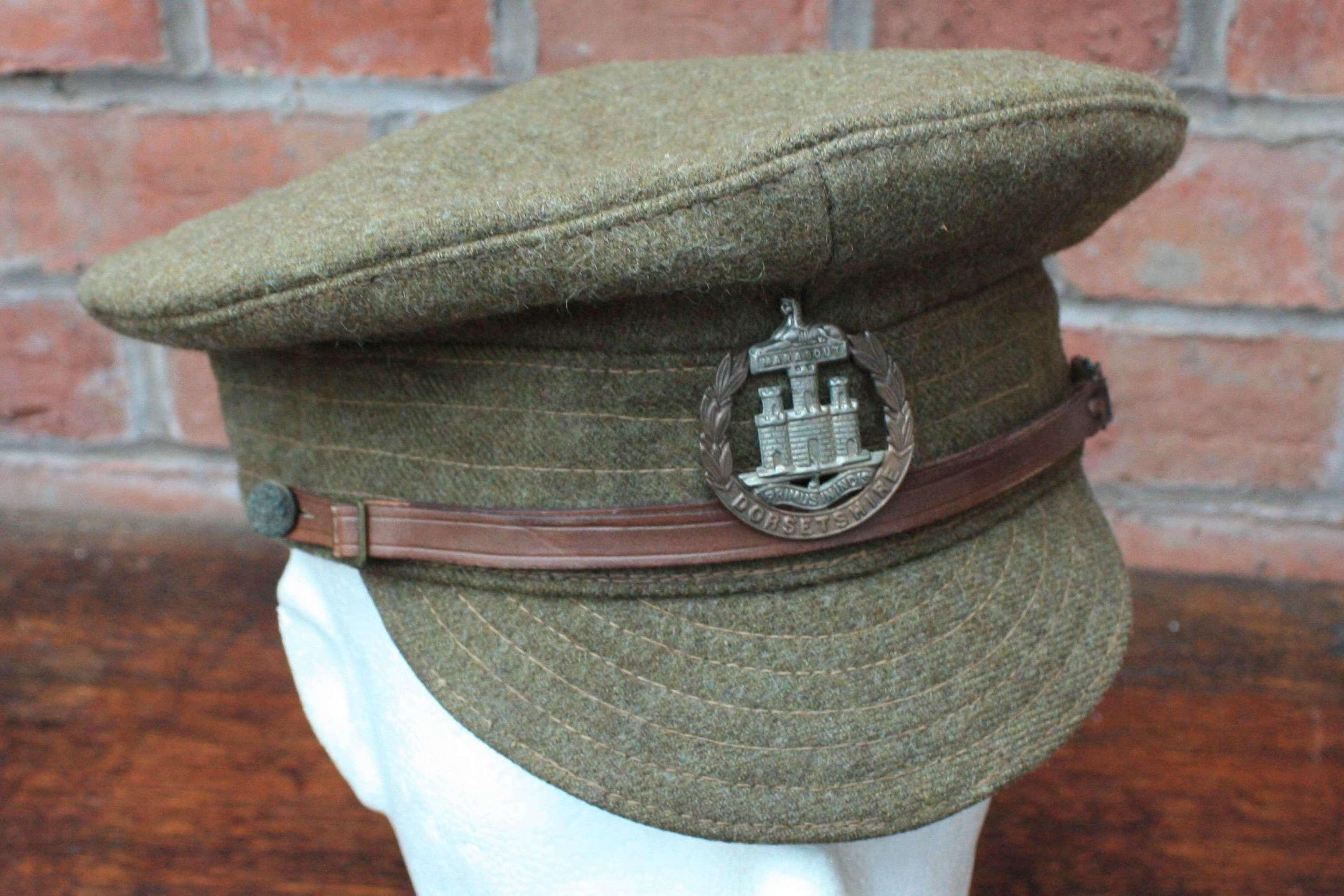 BRITISH WW1 OTHER RANKS WOOL TRENCH CAP DORSETSHIRE REGIMENT