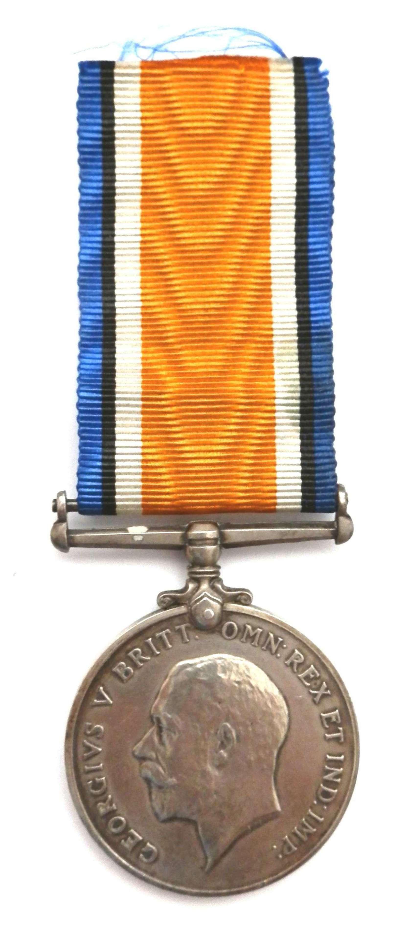 British War Medal. Pte.H.V.F. O'Donoghue. 31st Bn Canadian Inf. Died