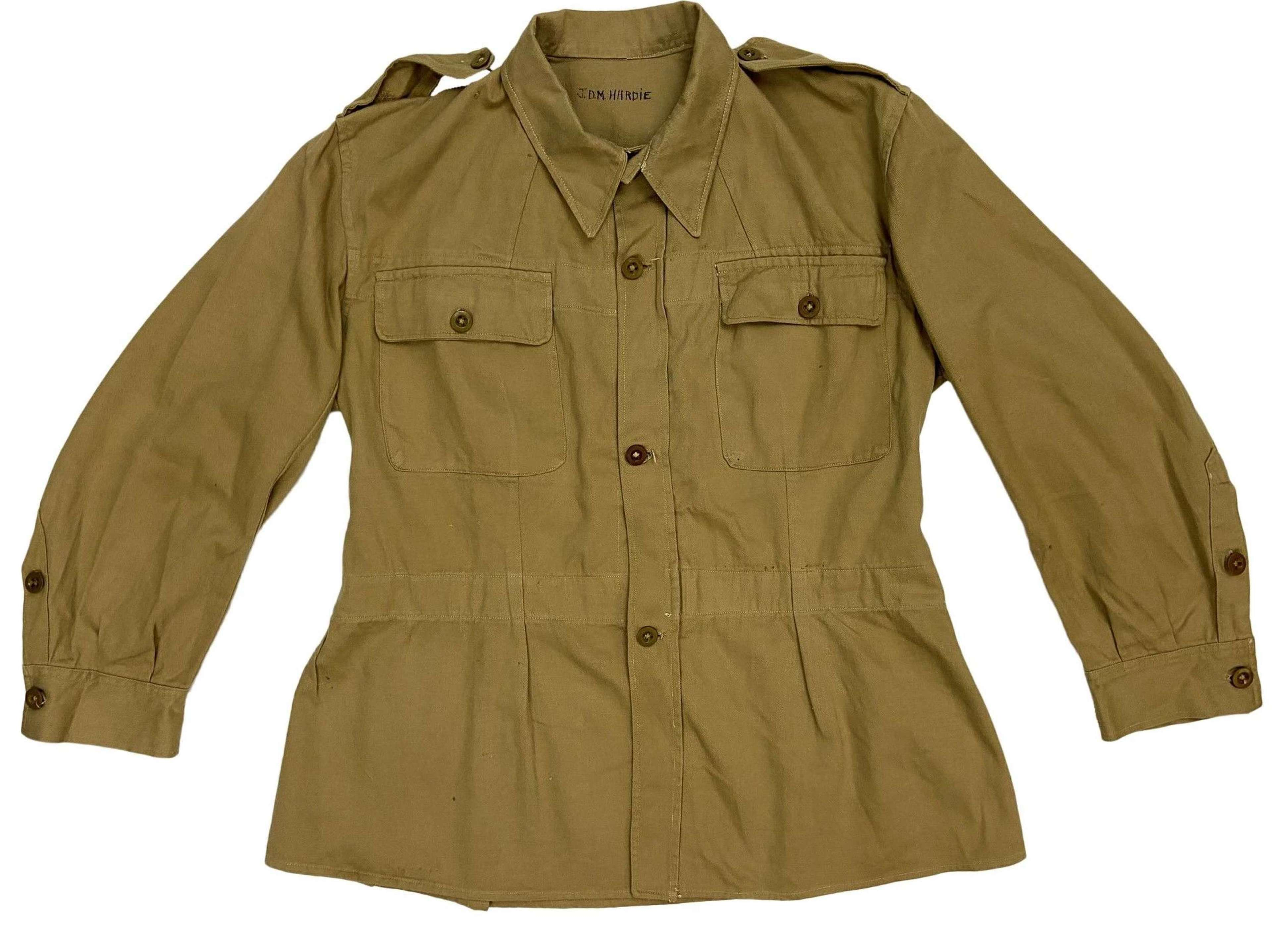 Original 1945 Dated Indian Made Cotton Drill Bush Jacket