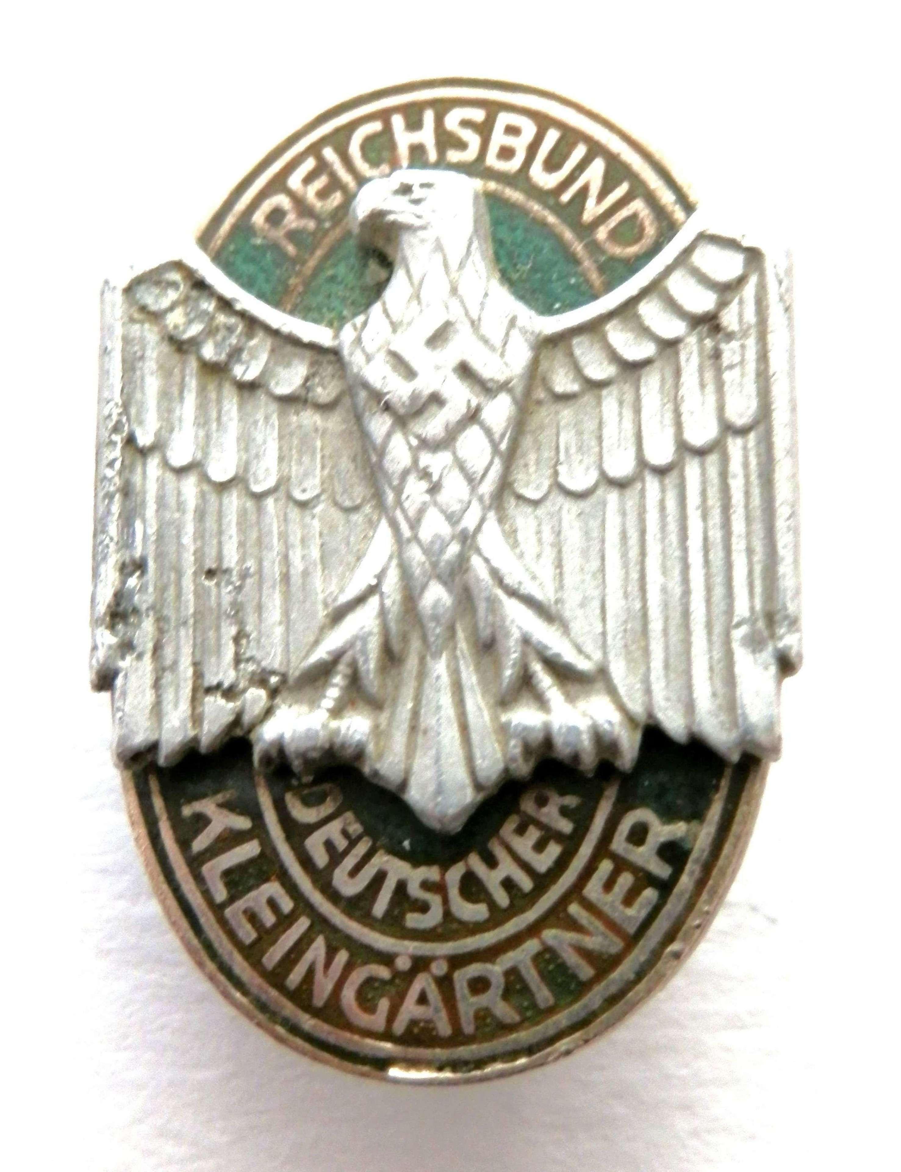 Reichsbund Deutscher Kleingartner Members Badge