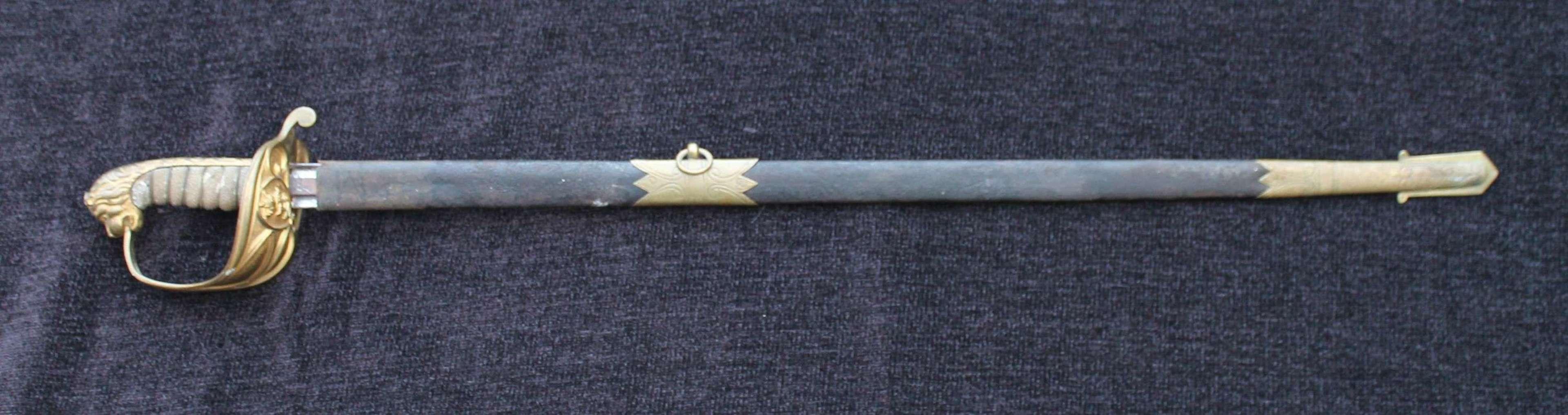 1827 Pattern Royal Naval Officers Sword Claymore Blade