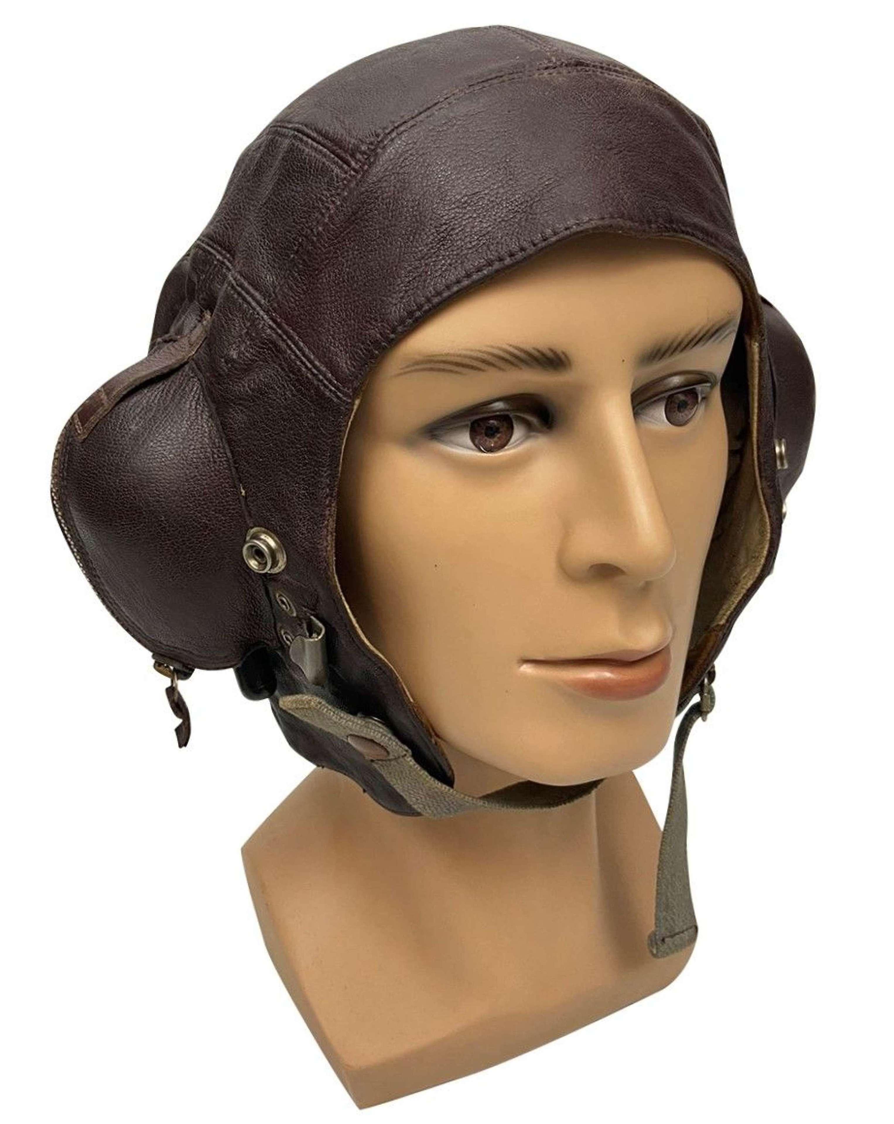 Original WW2 Royal Navy Fleet Air Arm C Type Flying Helmet