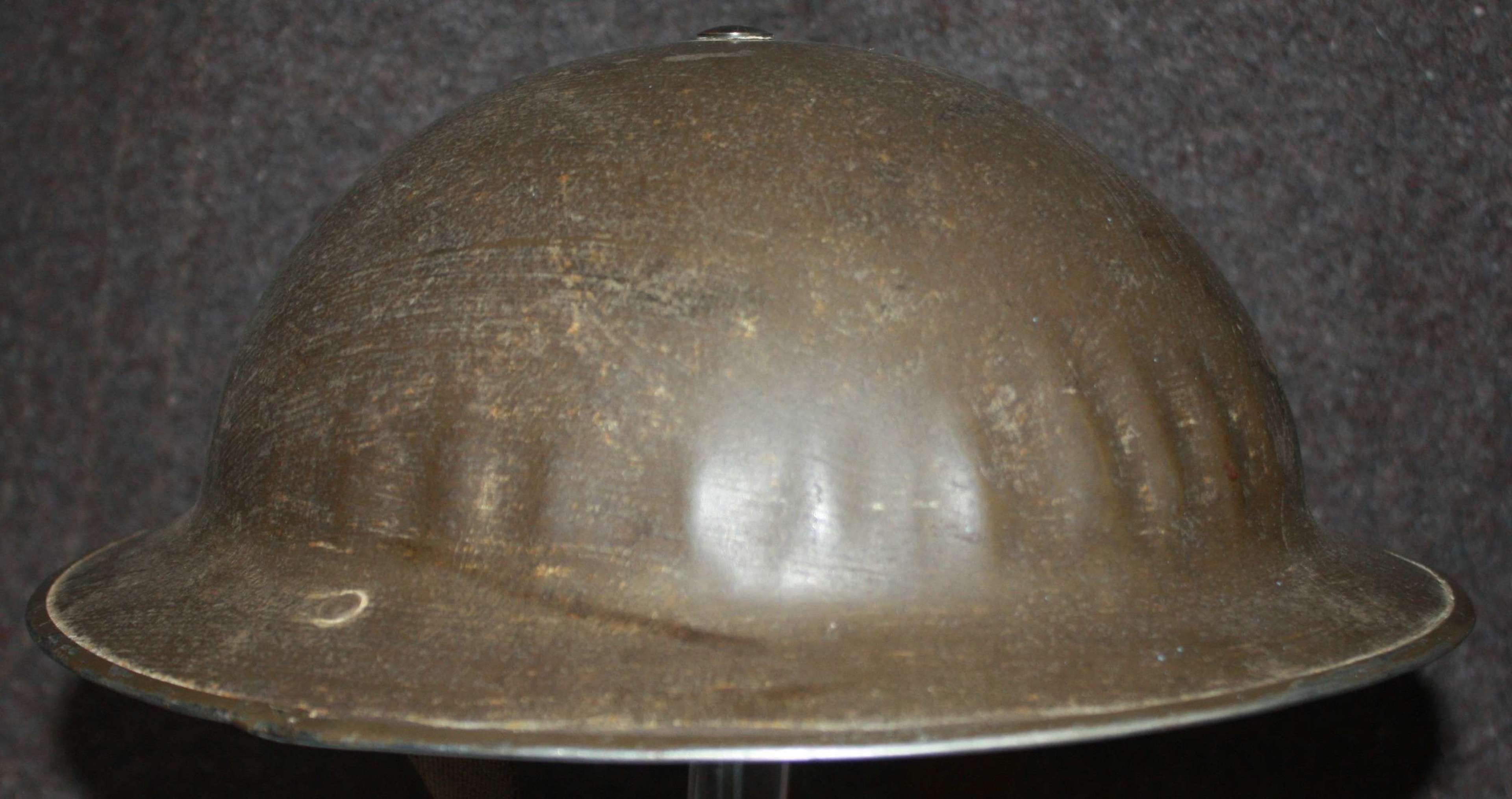 A GOOD WWII 1938 DATED UNIT MARKED HELMET MKI* EXAMPLE