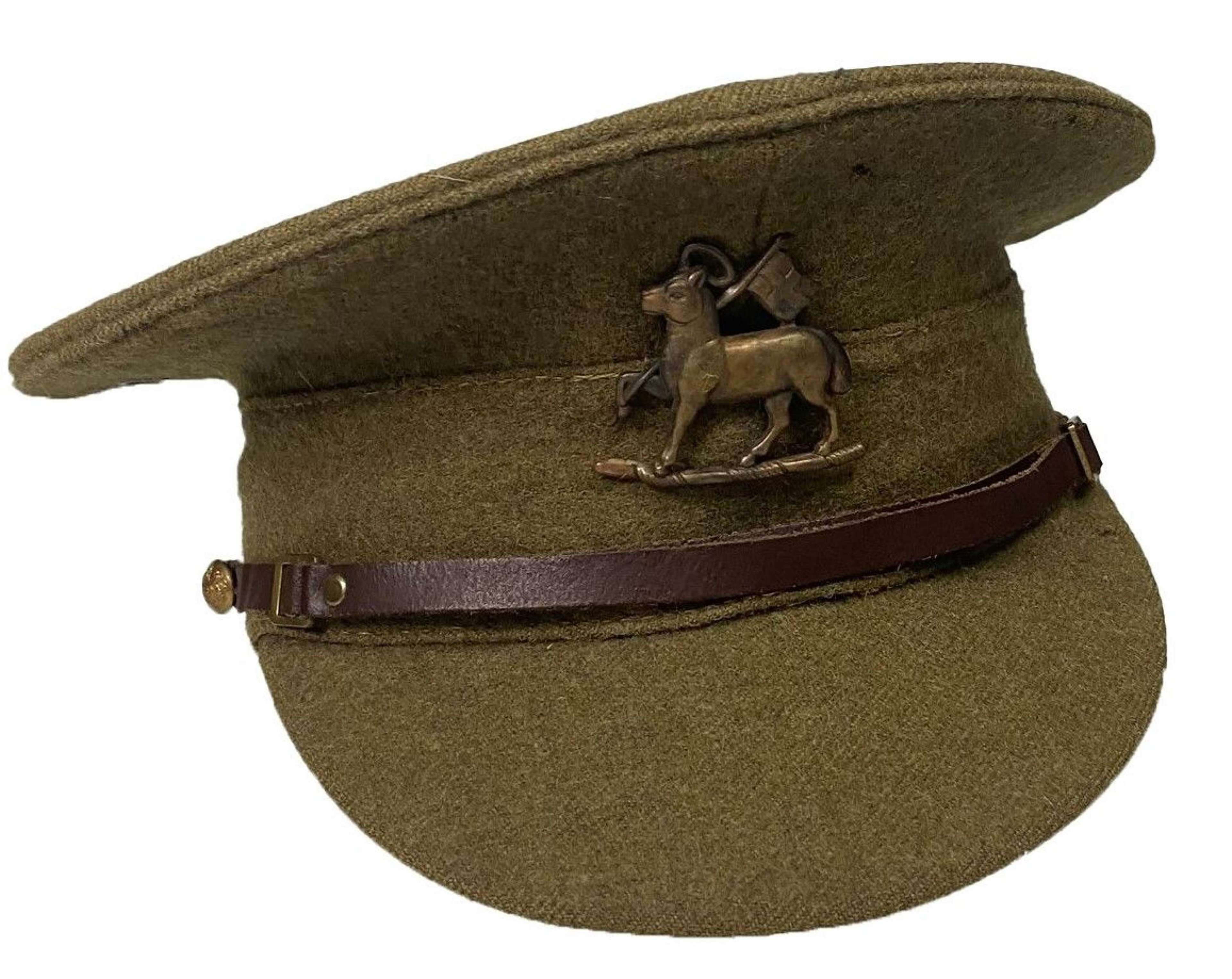 Original 1947 Dated British Army 1922 Pattern Peaked Cap