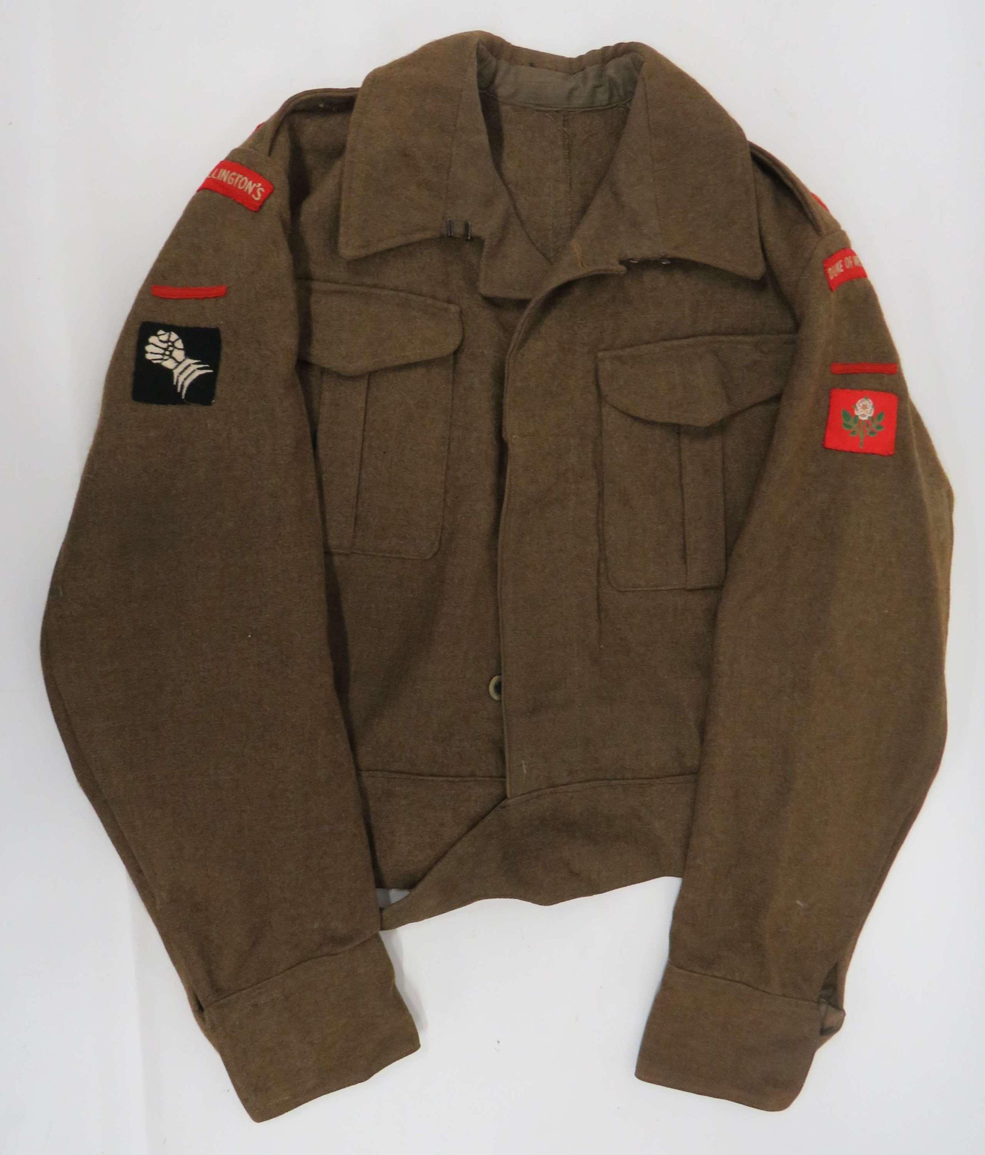 WW2 Duke of Wellingtons Officers 1937 Battledress Jacket