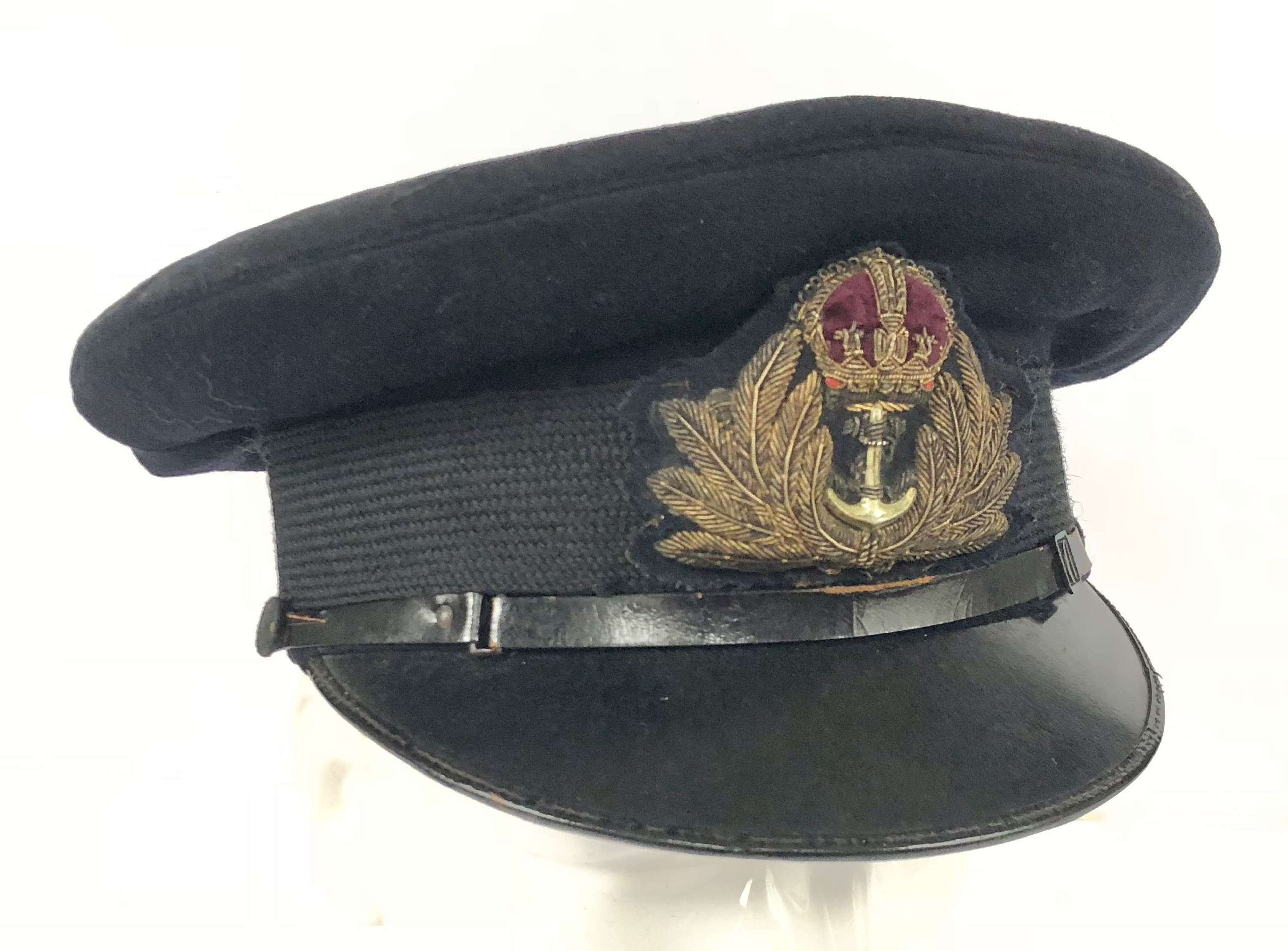 WW2 Royal Navy Officer's Cap Large Size