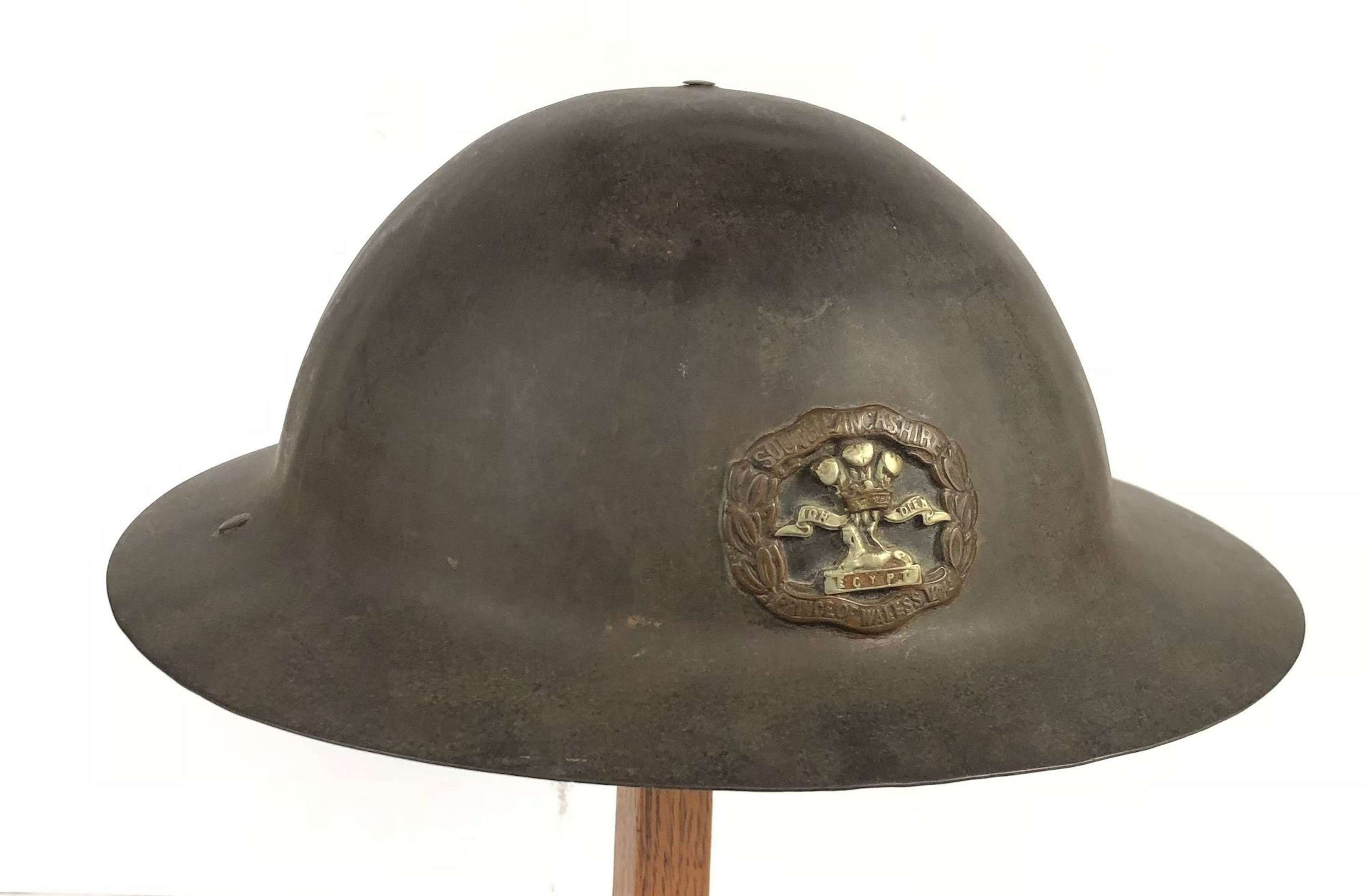 WW1 South Lancs Battle of the Somme 1916 Period A Pattern Helmet