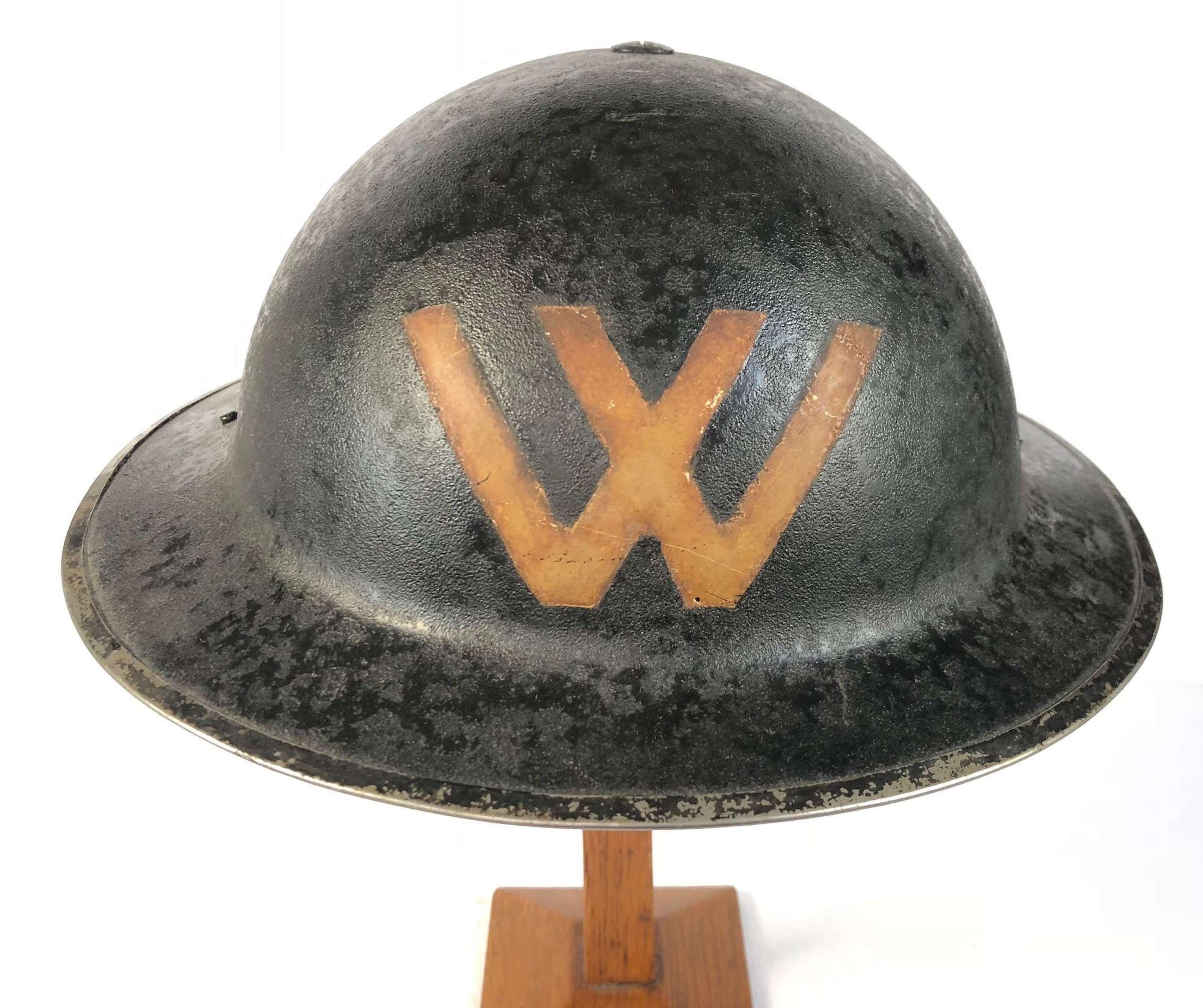 WW2 Unusual Home Front Warden Helmet ARP.