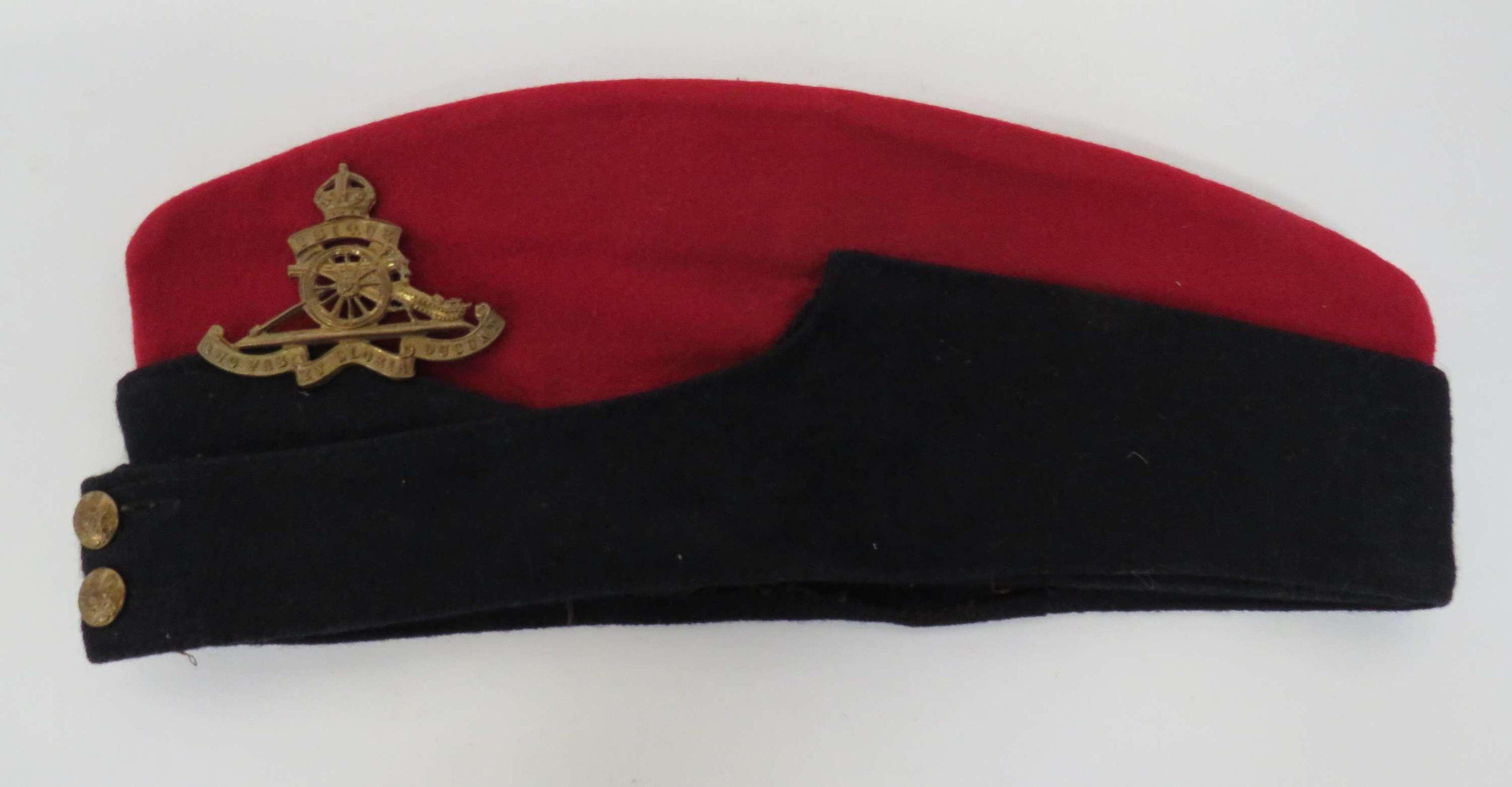 WW2 Royal Artillery Coloured Field Service Cap