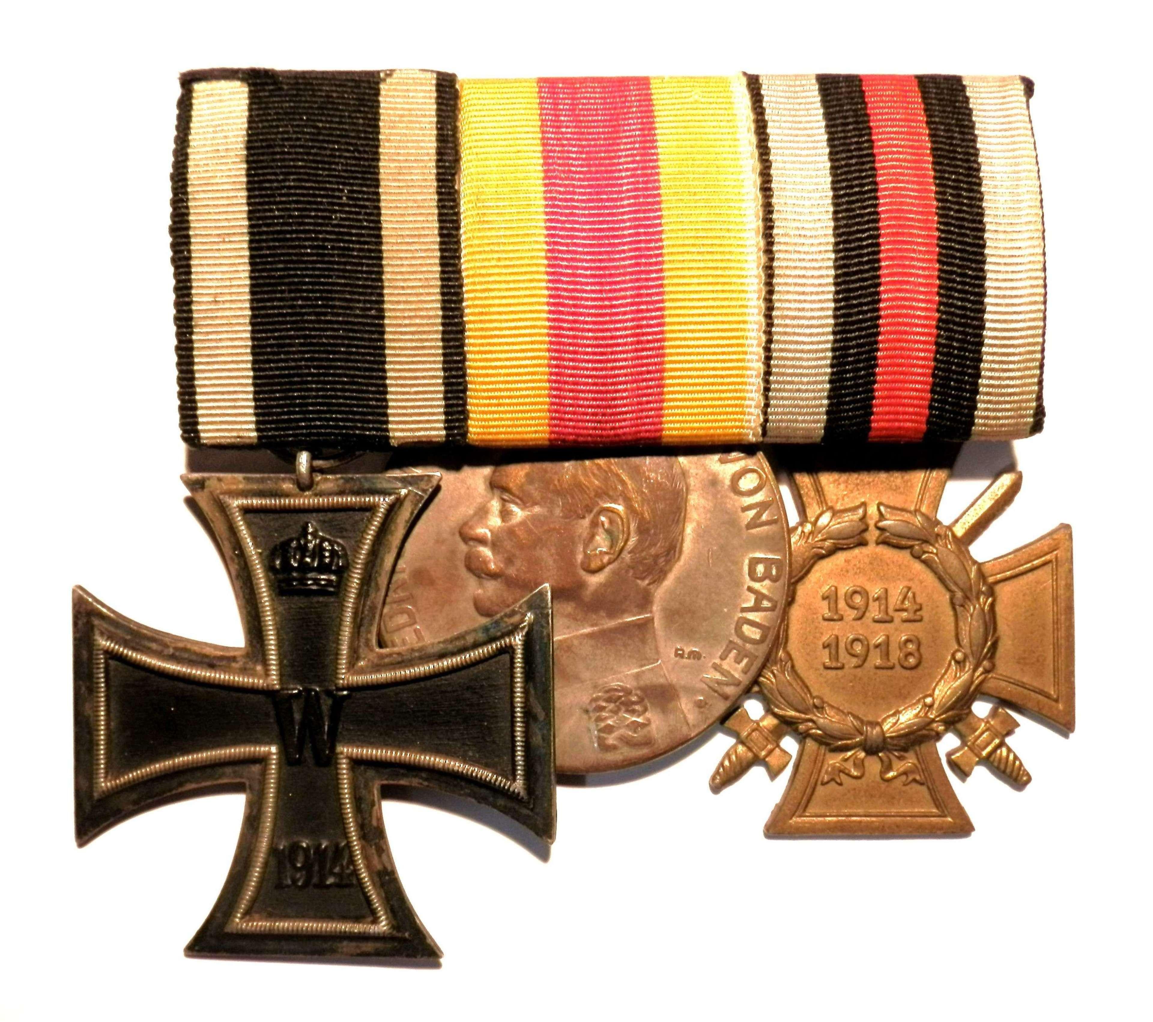 GROUP OF THREE. German Imperial Medal Group.