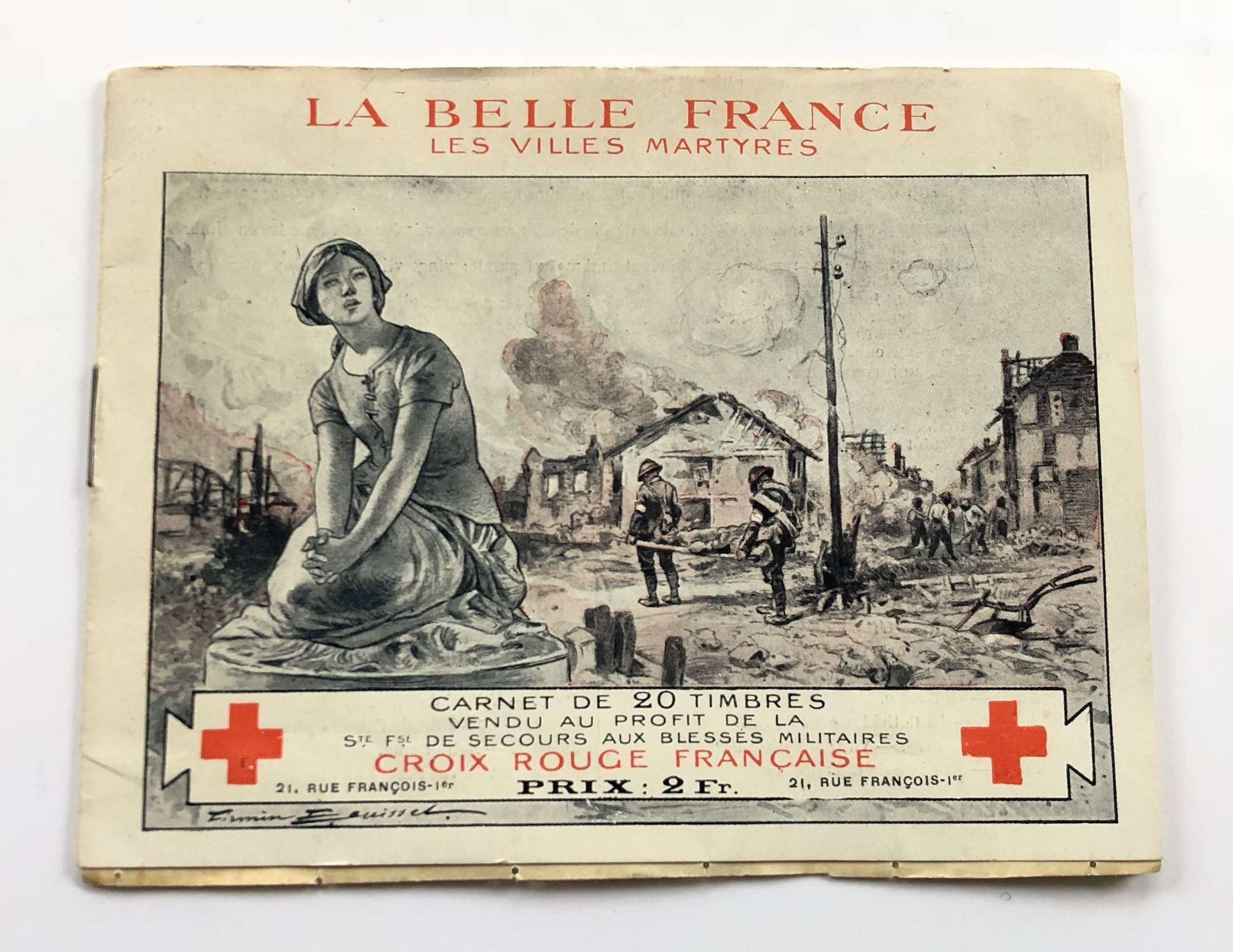 WW1 French Red Cross Fund Raising Stamps.