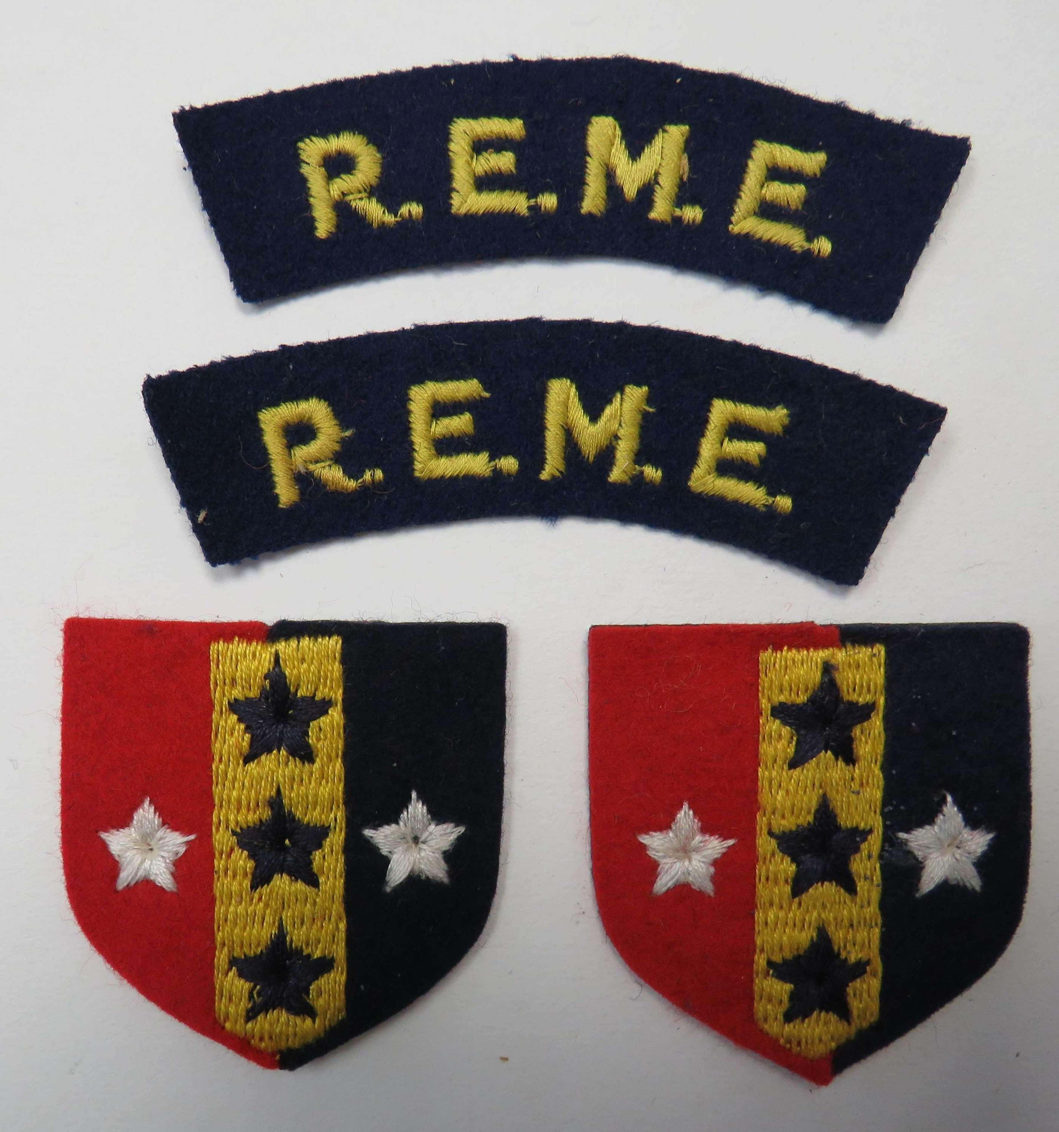 Set of R.E.M.E. Southern Command Badges