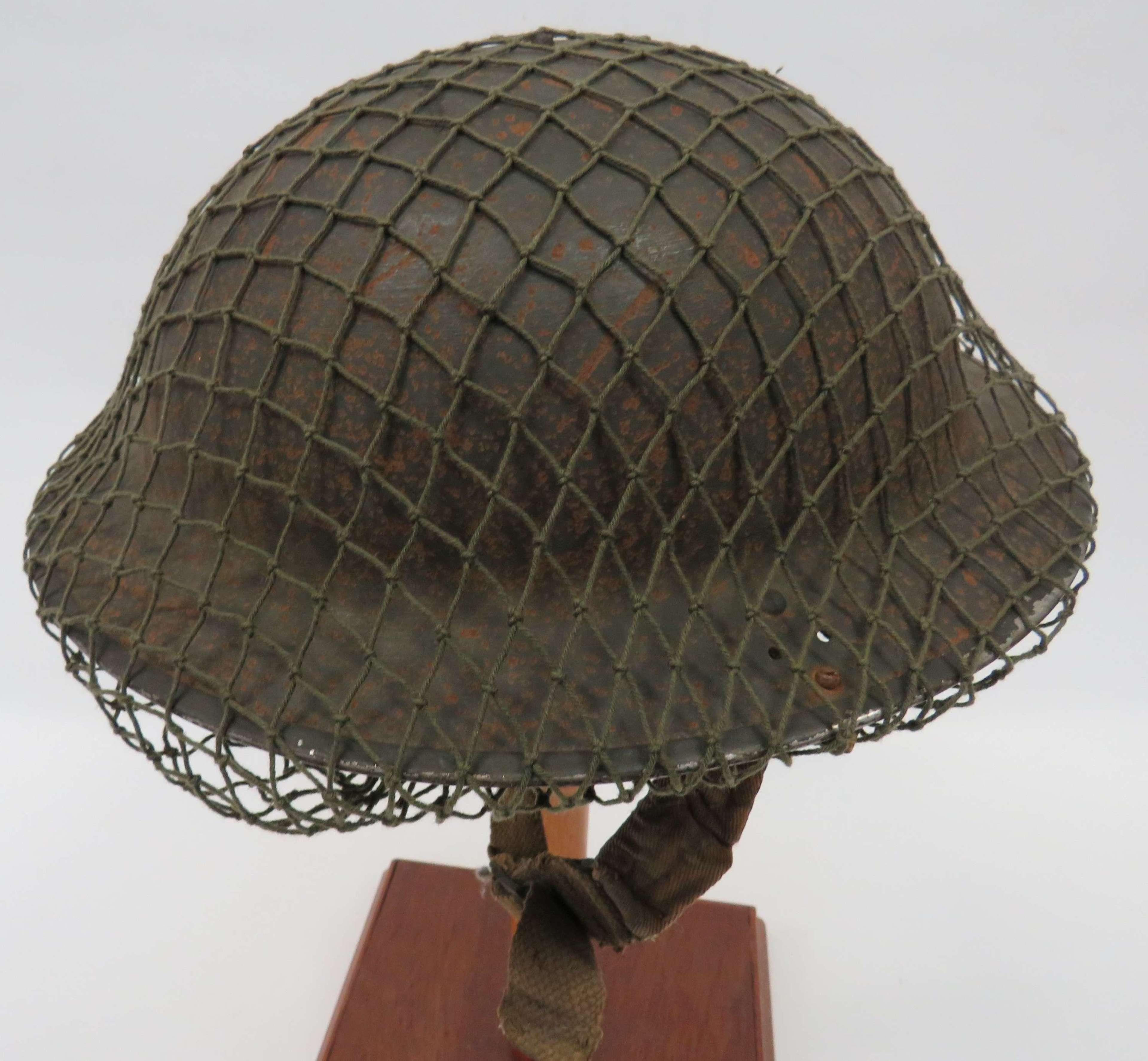 WW 2 British Mk 11C Home Guard Steel Helmet and Netting Cover