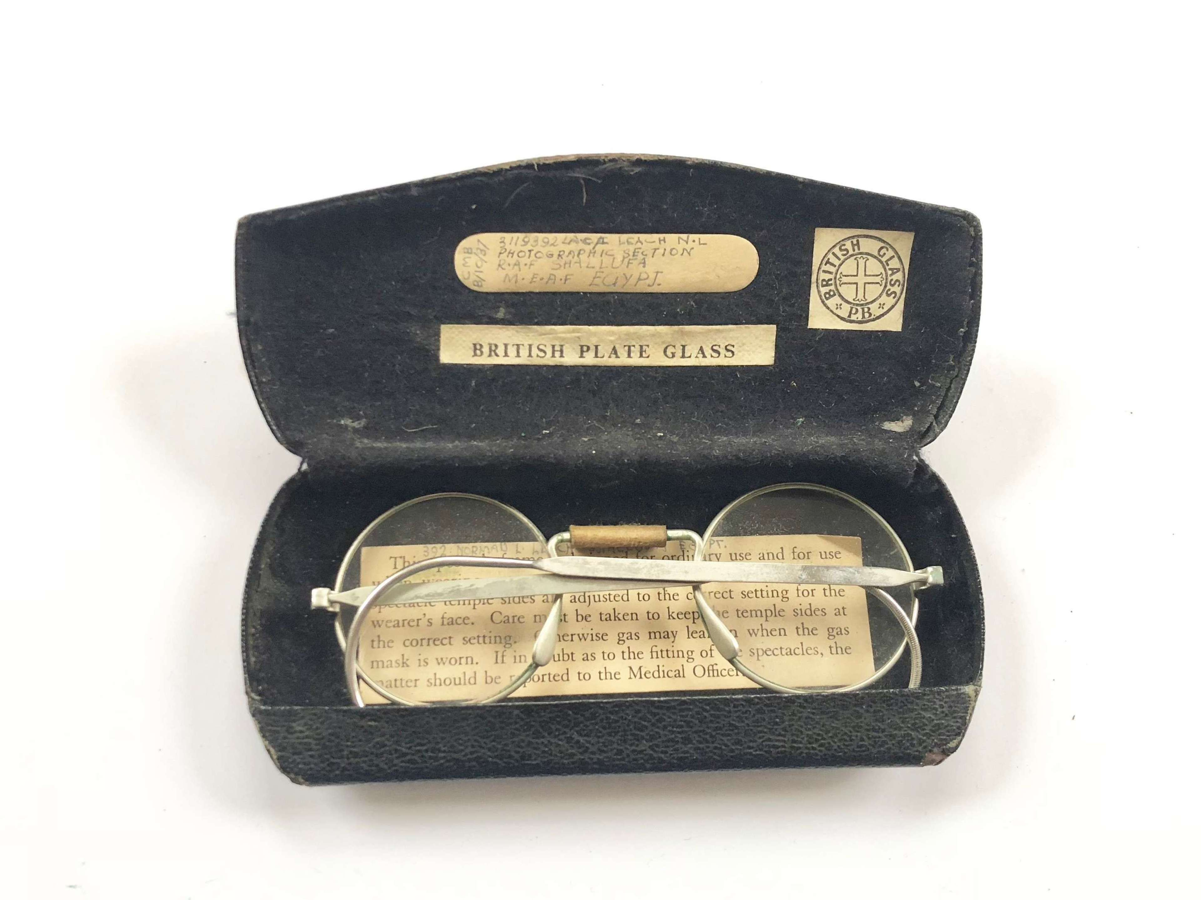 RAF Attributed Gas Spectacles & Case