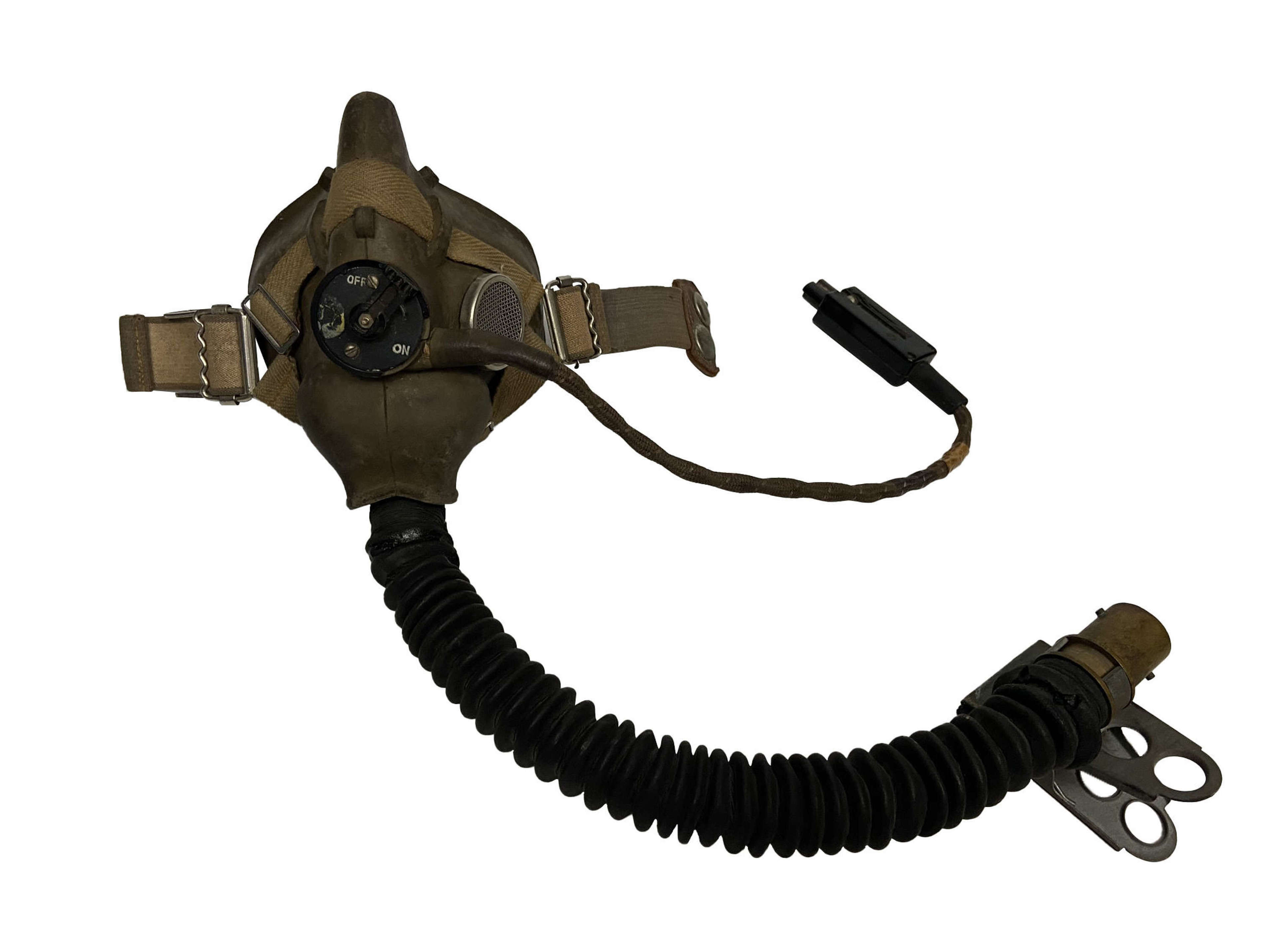 Original 1946 Dated RAF H Type Oxygen Mask and Hose.