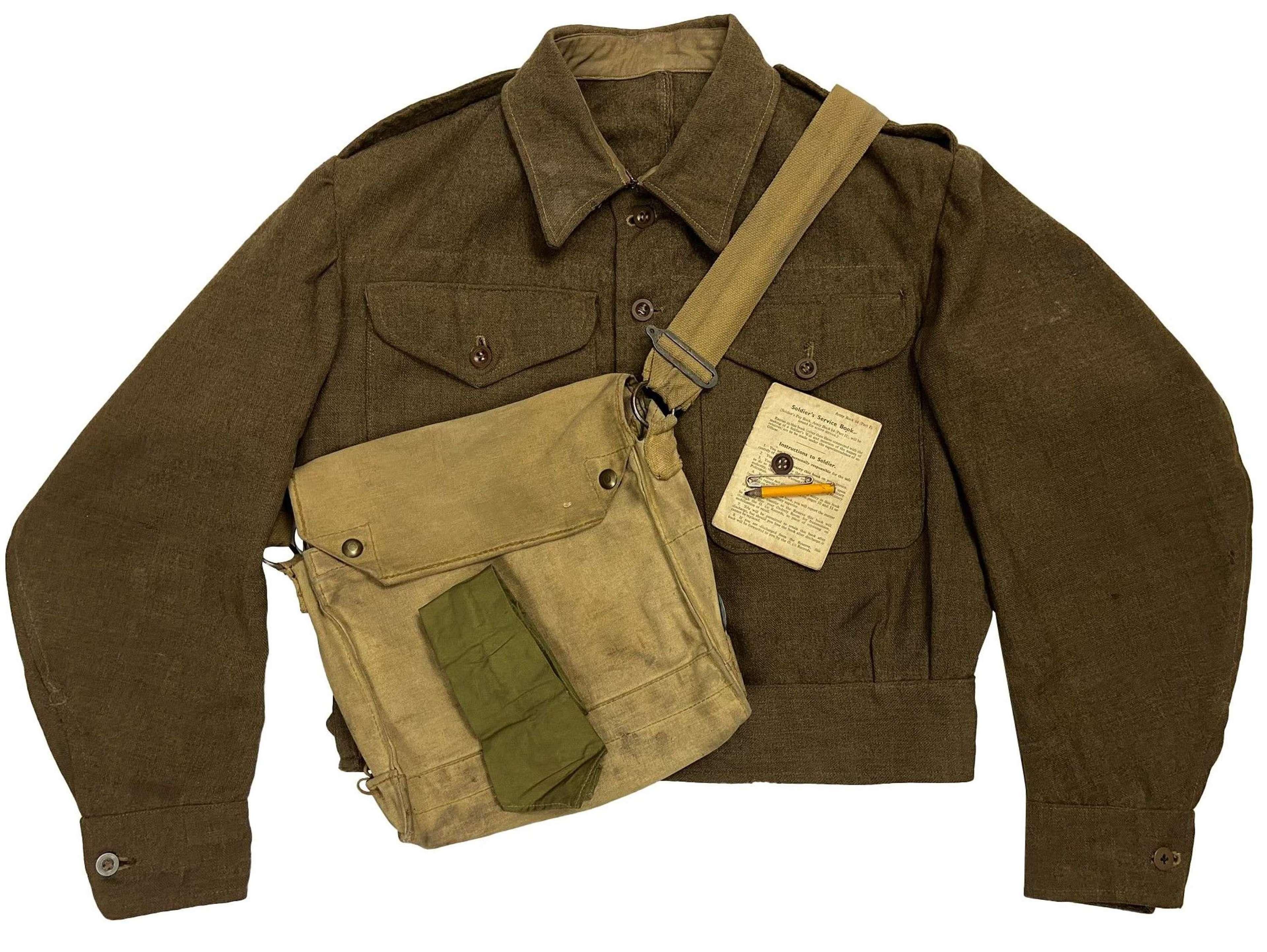 Original WW2 British Army RASC Battledress Uniform Grouping