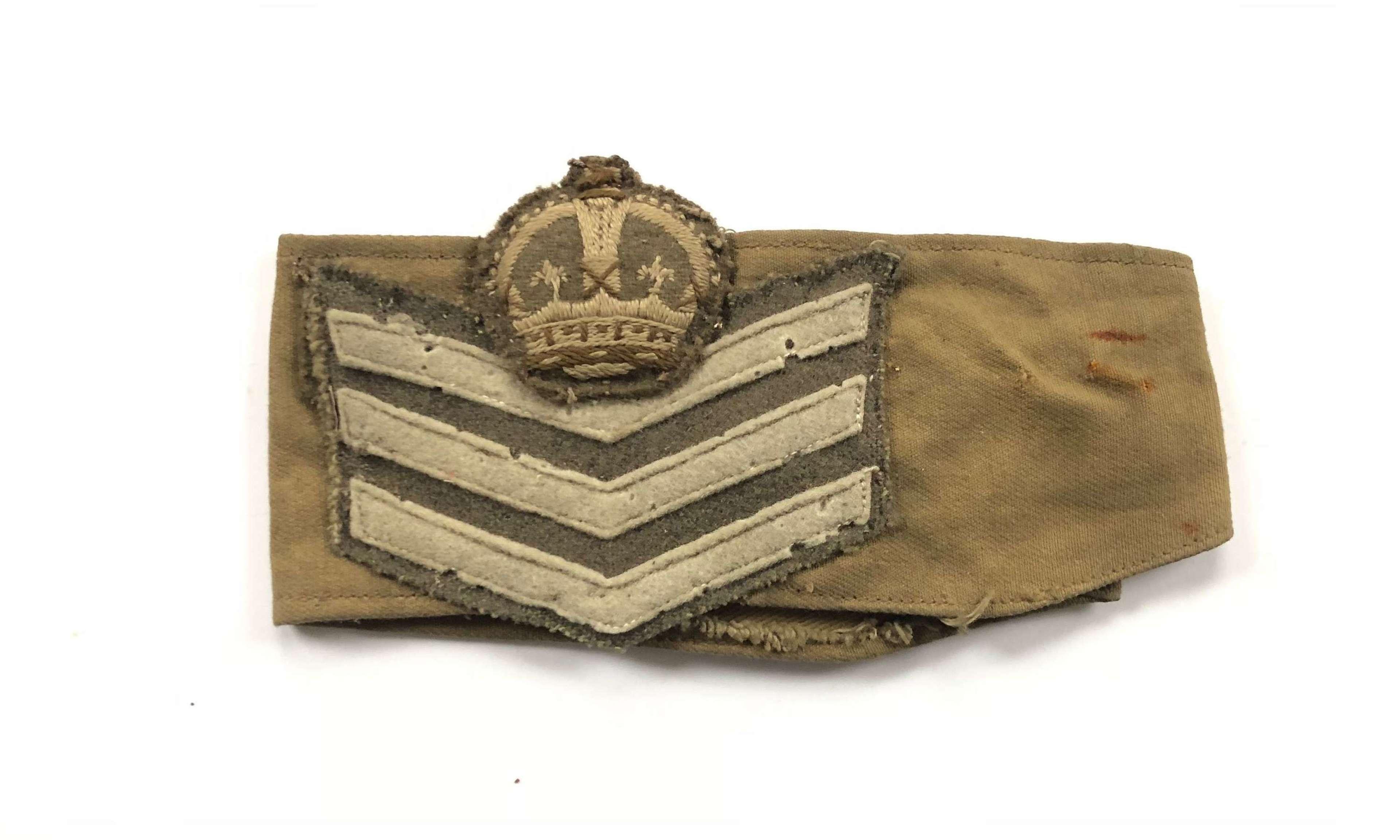 WW2 Period Sergeant Major Rank Armband.