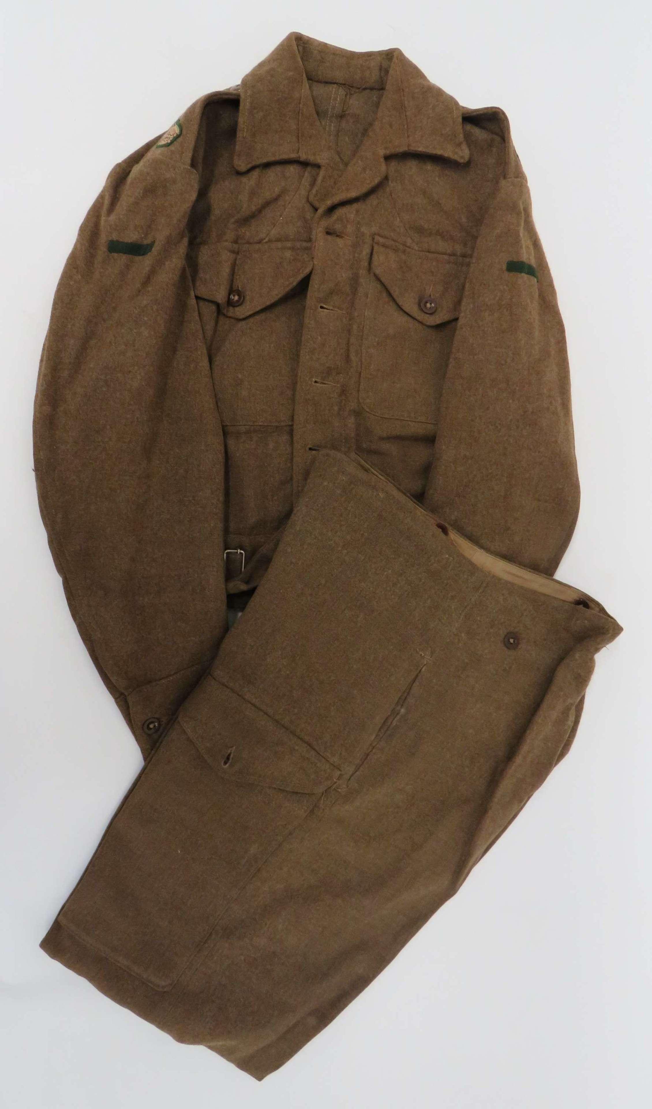 1940 Pattern Intelligence Corps Battledress Jacket and Trousers