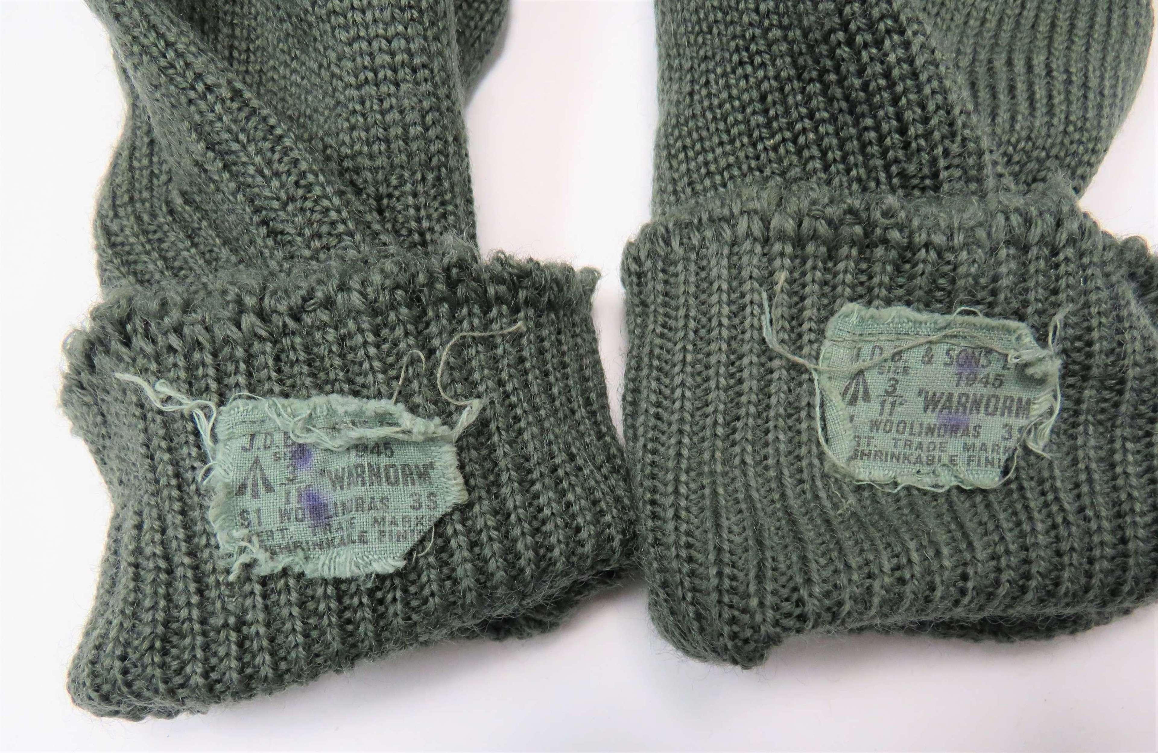 Rare 1945 Dated British Army Jungle Socks