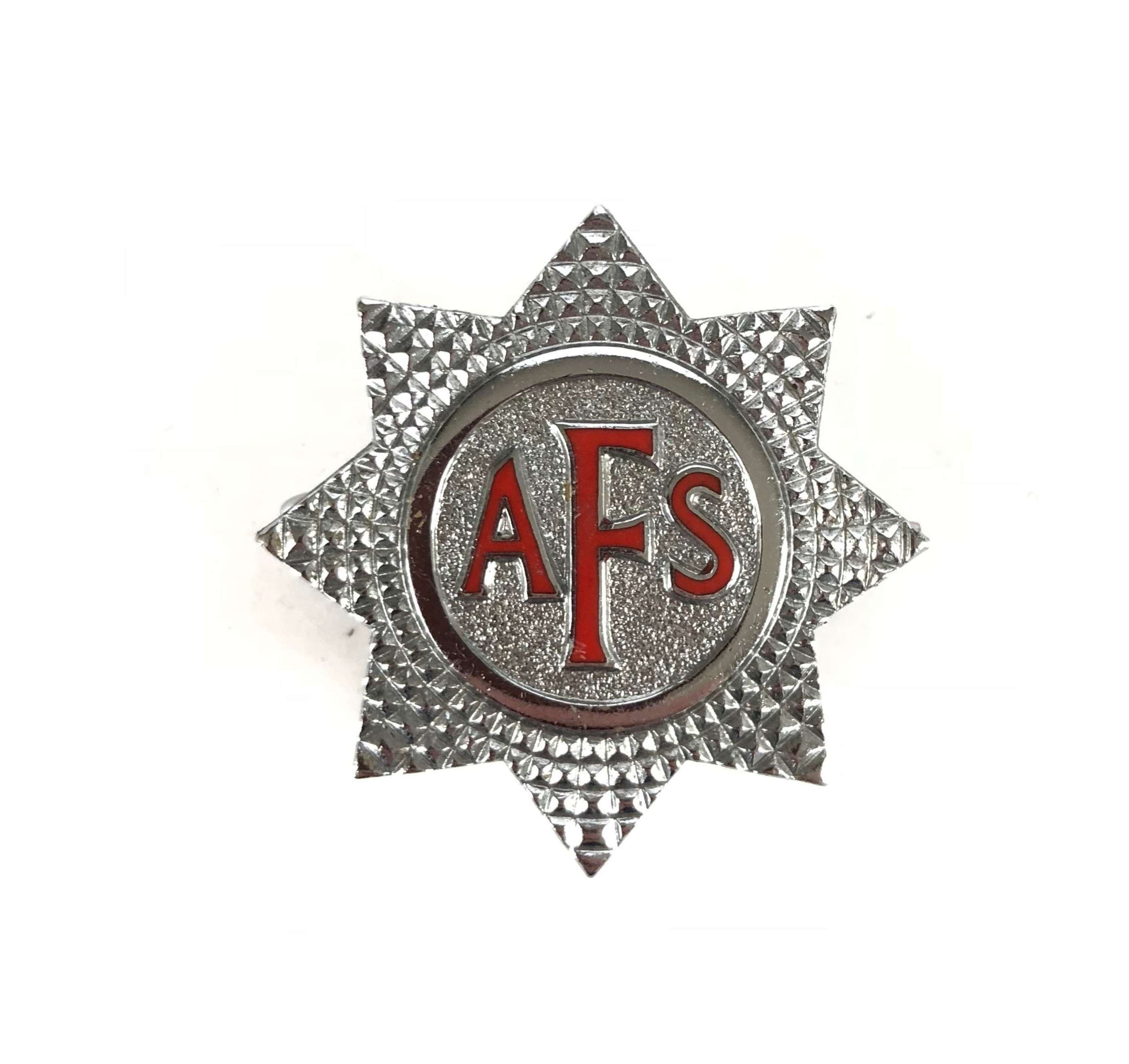 WW2 Auxiliary Fire Service Cap Badge.