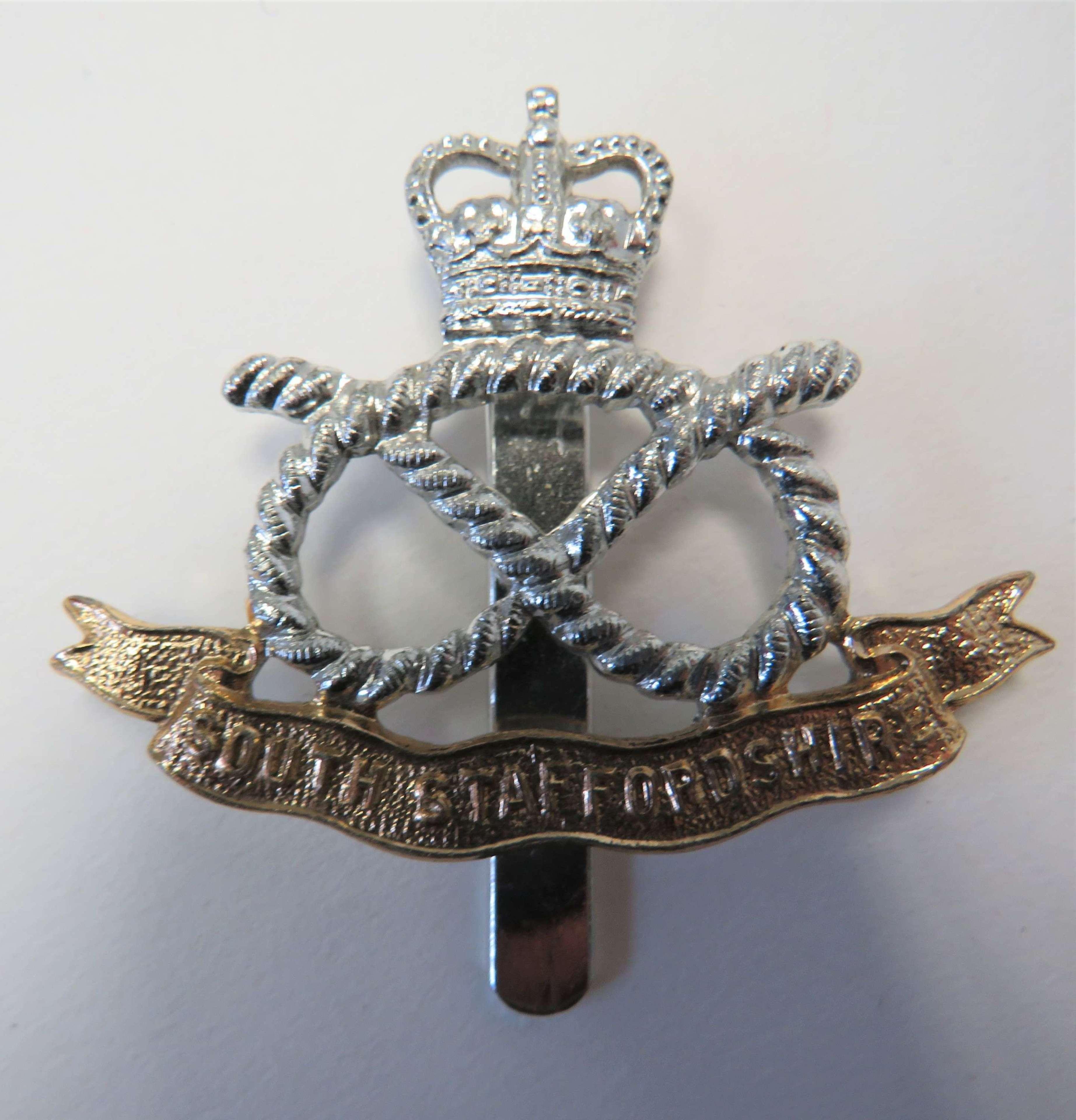 Anodised South Staffordshire Regiment Cap Badge