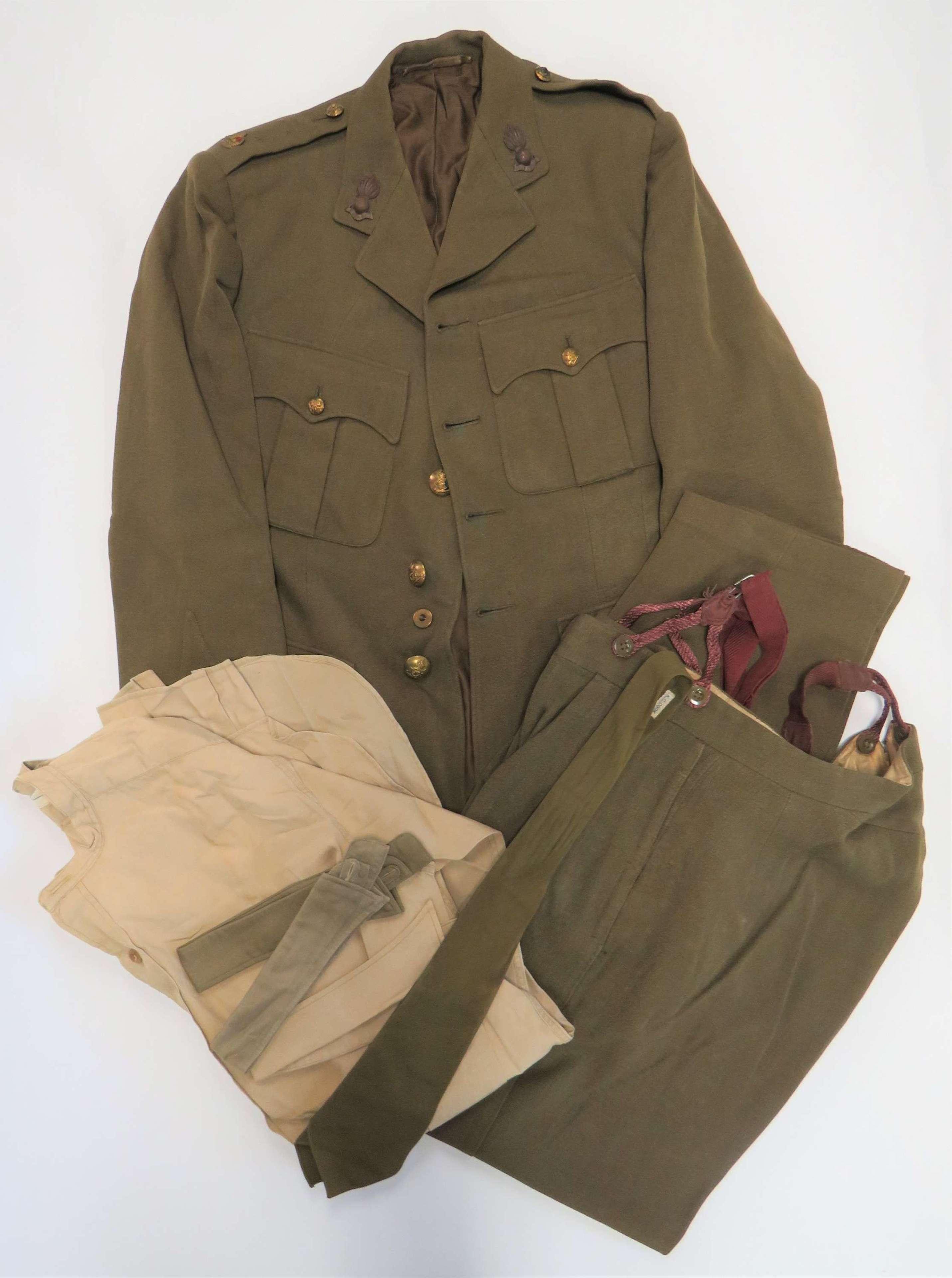 WW2 Royal Artillery Officers Service Dress Uniform
