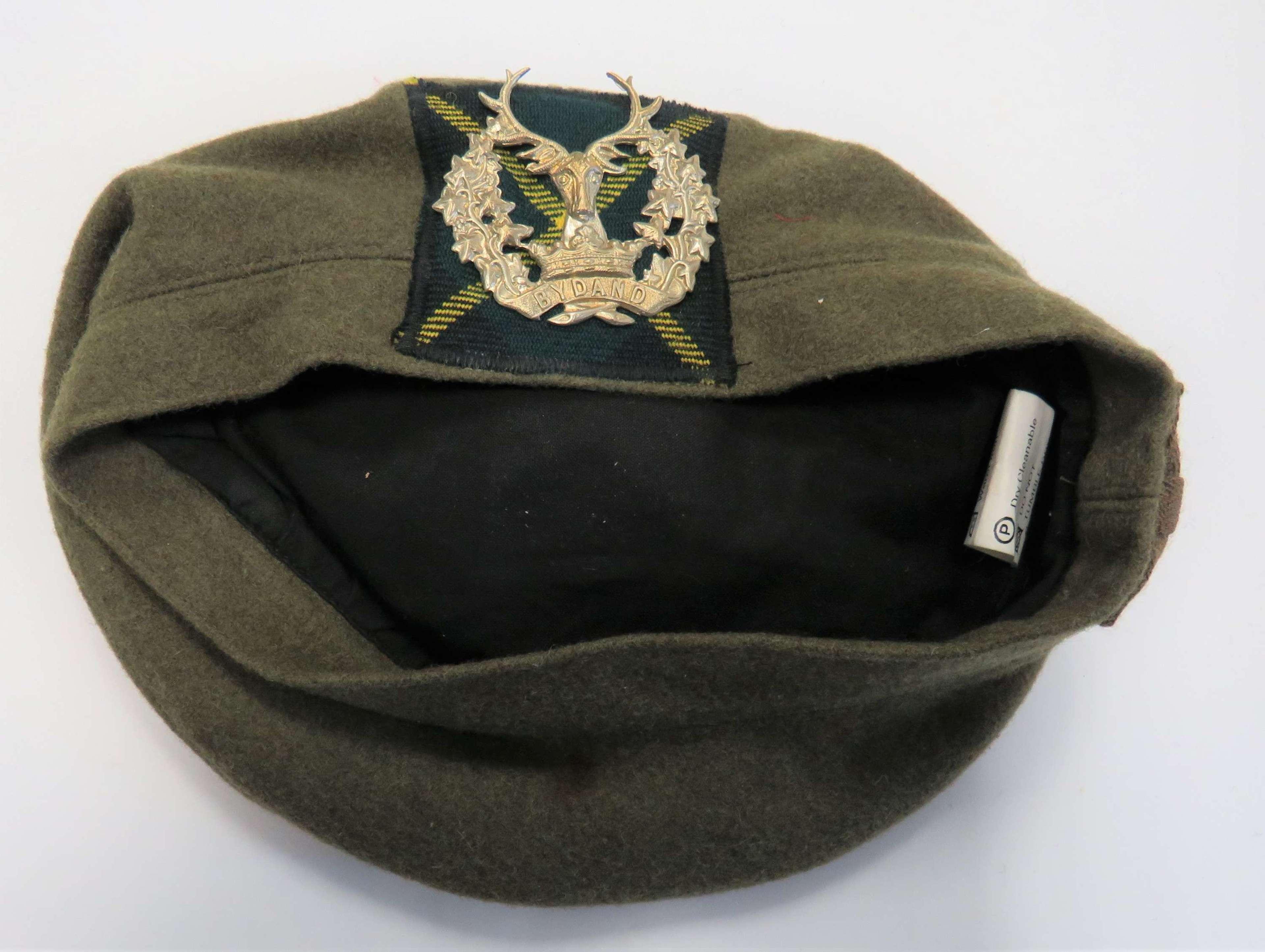 Post War Gordon Highlanders Bonnet