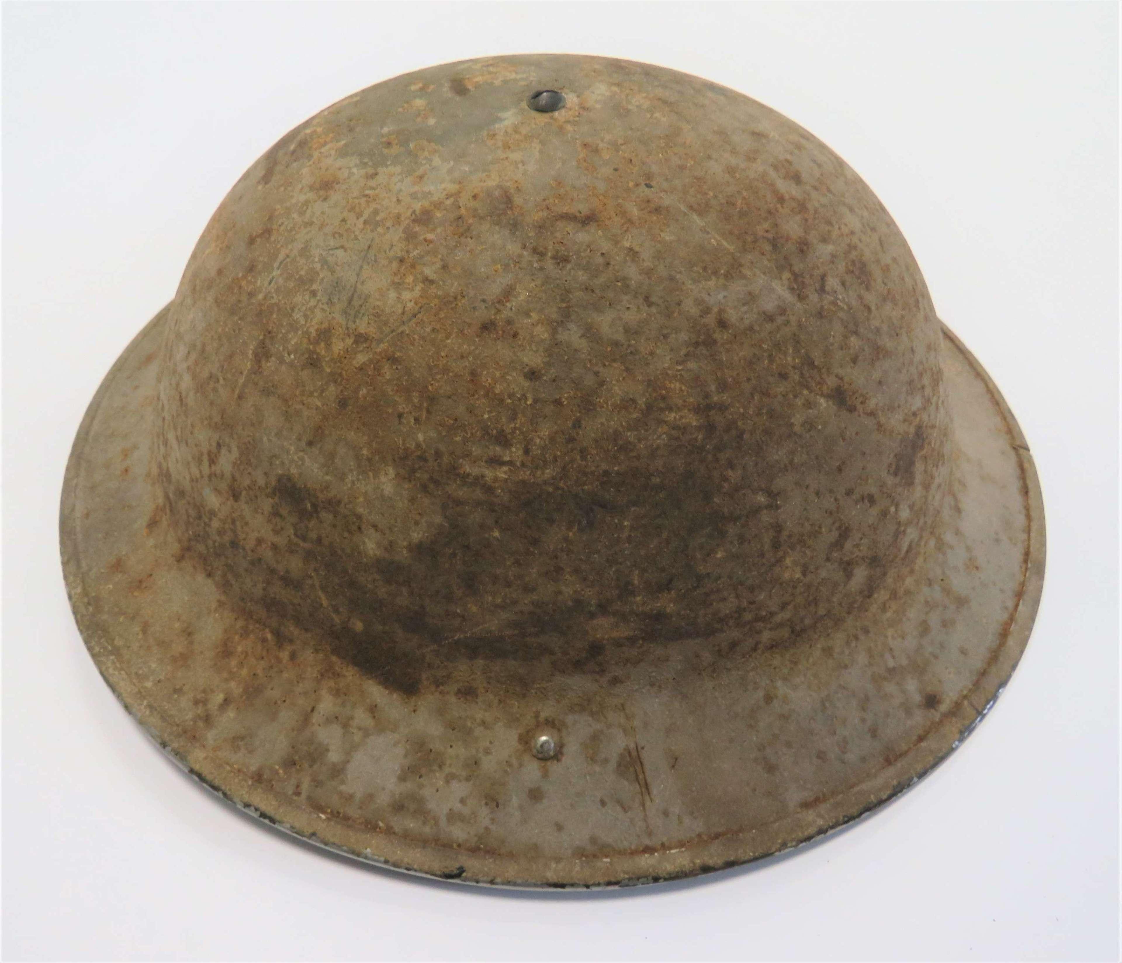 1940 Dated Desert Camouflaged  Steel Helmet