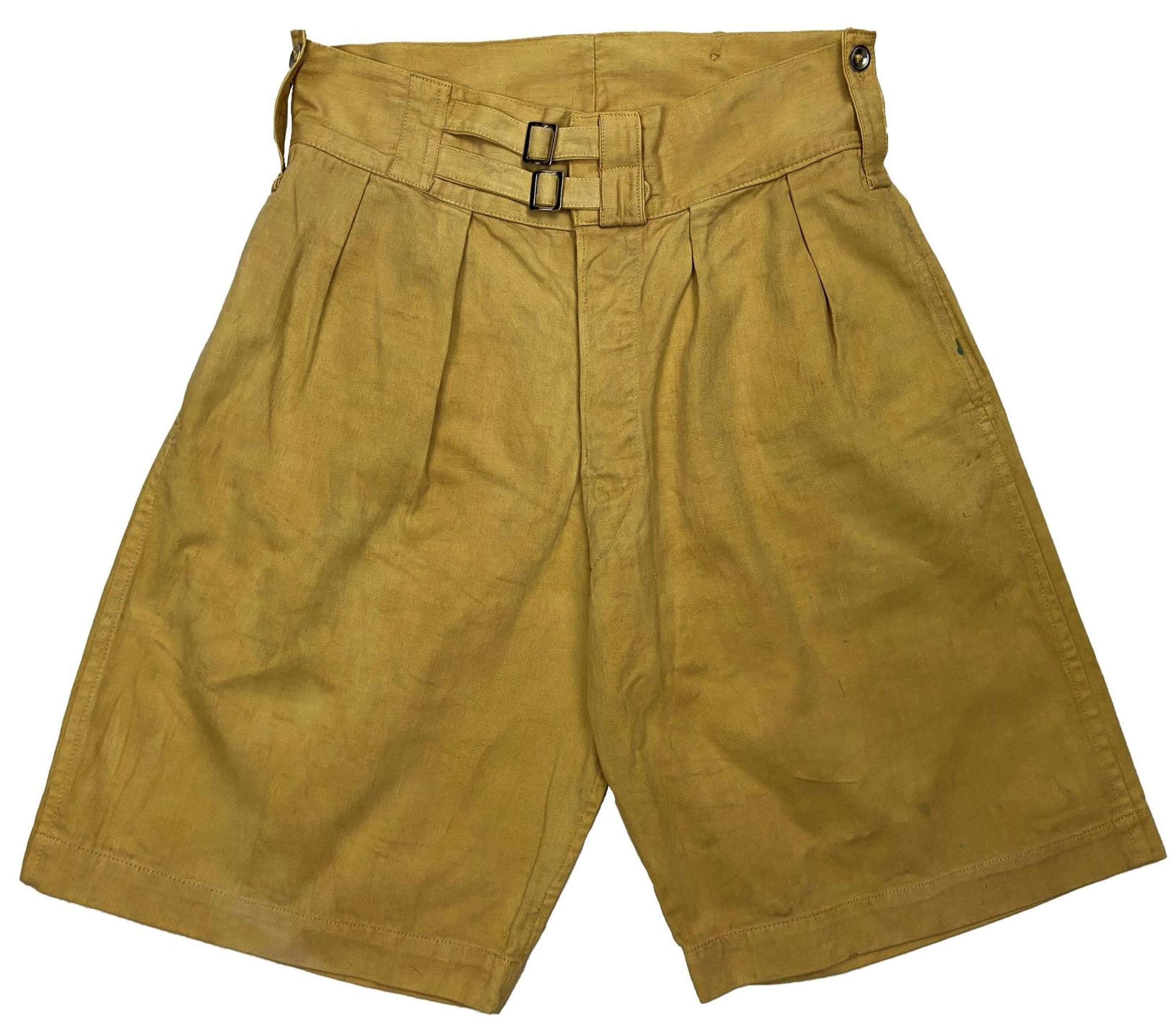 Original 1940s Cotton Drill Shorts