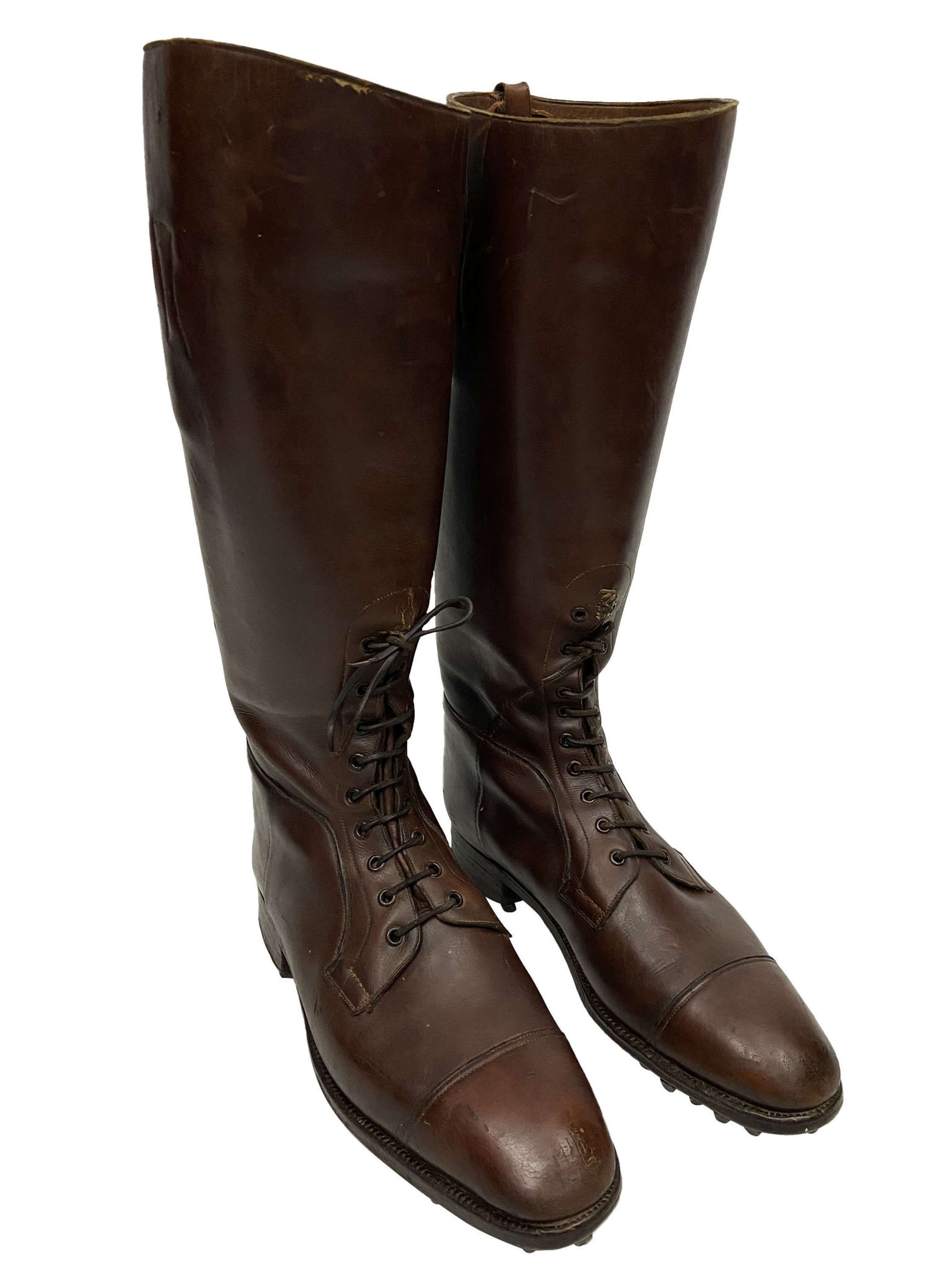 Original British Army Officers Field Boots by 'Manfield & Sons'