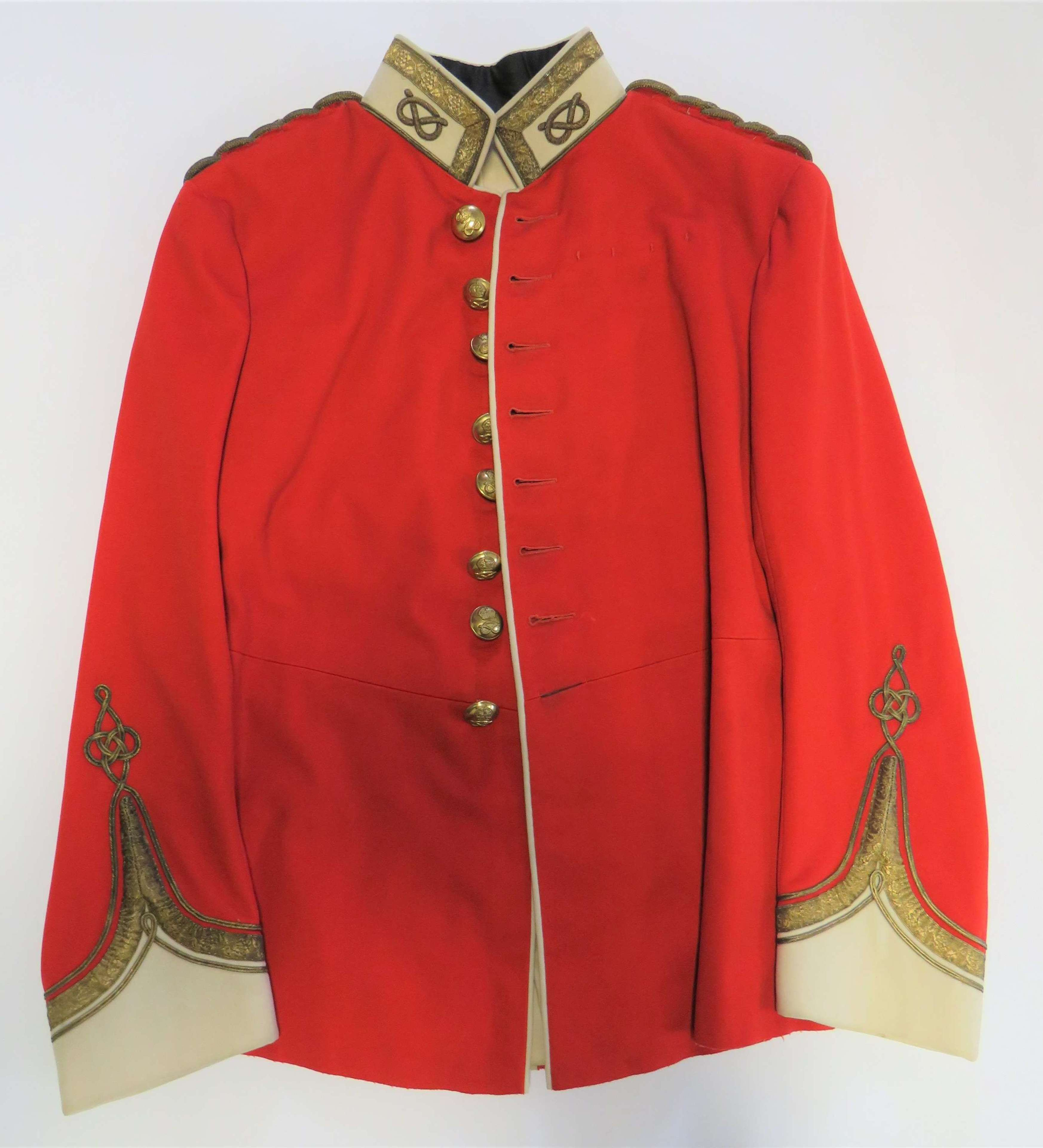 Pre WW 1 South Staffordshire Officers Scarlet Dress Tunic