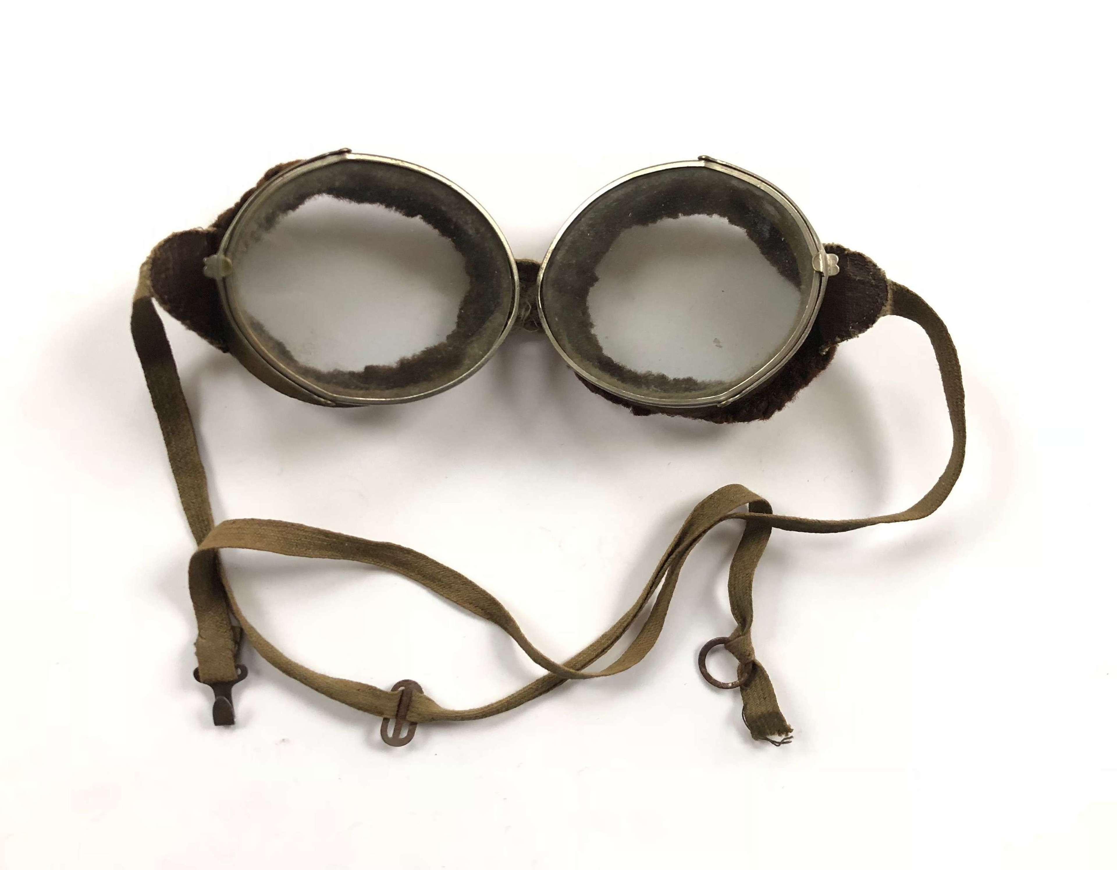 WW1 Period RFC RNAS RAF Flying Goggles.