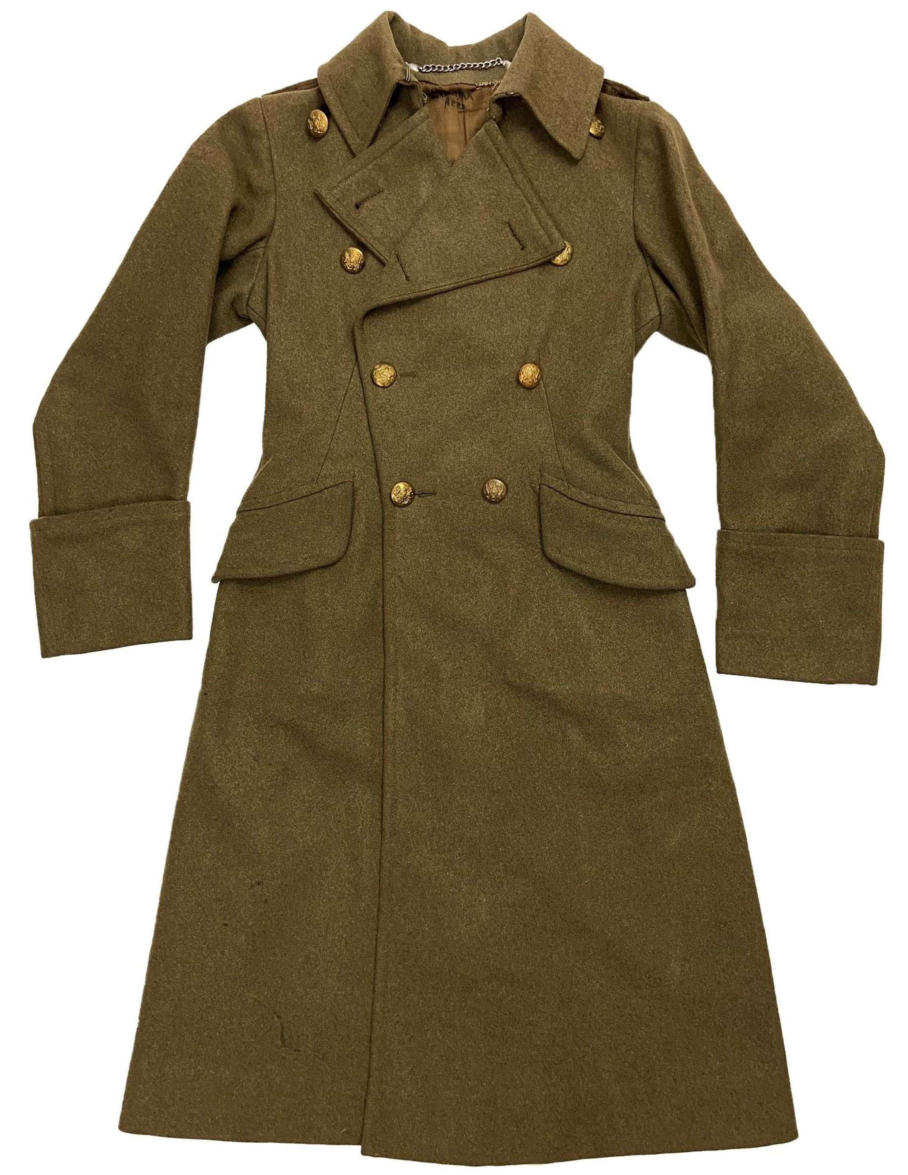Original WW2 ATS Officers Greatcoat