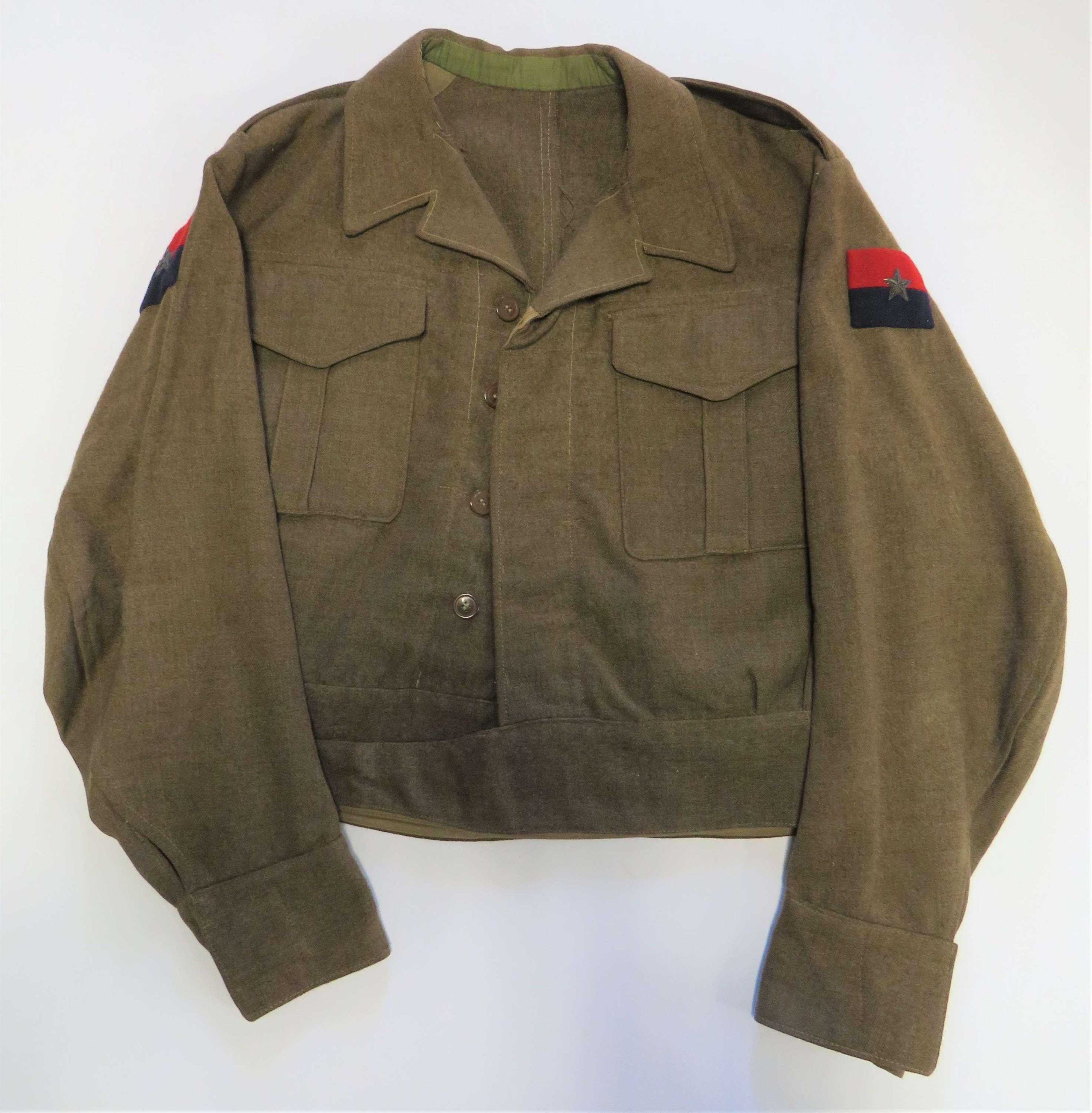 WW2 G.H.Q India Officers Battle Dress Jacket