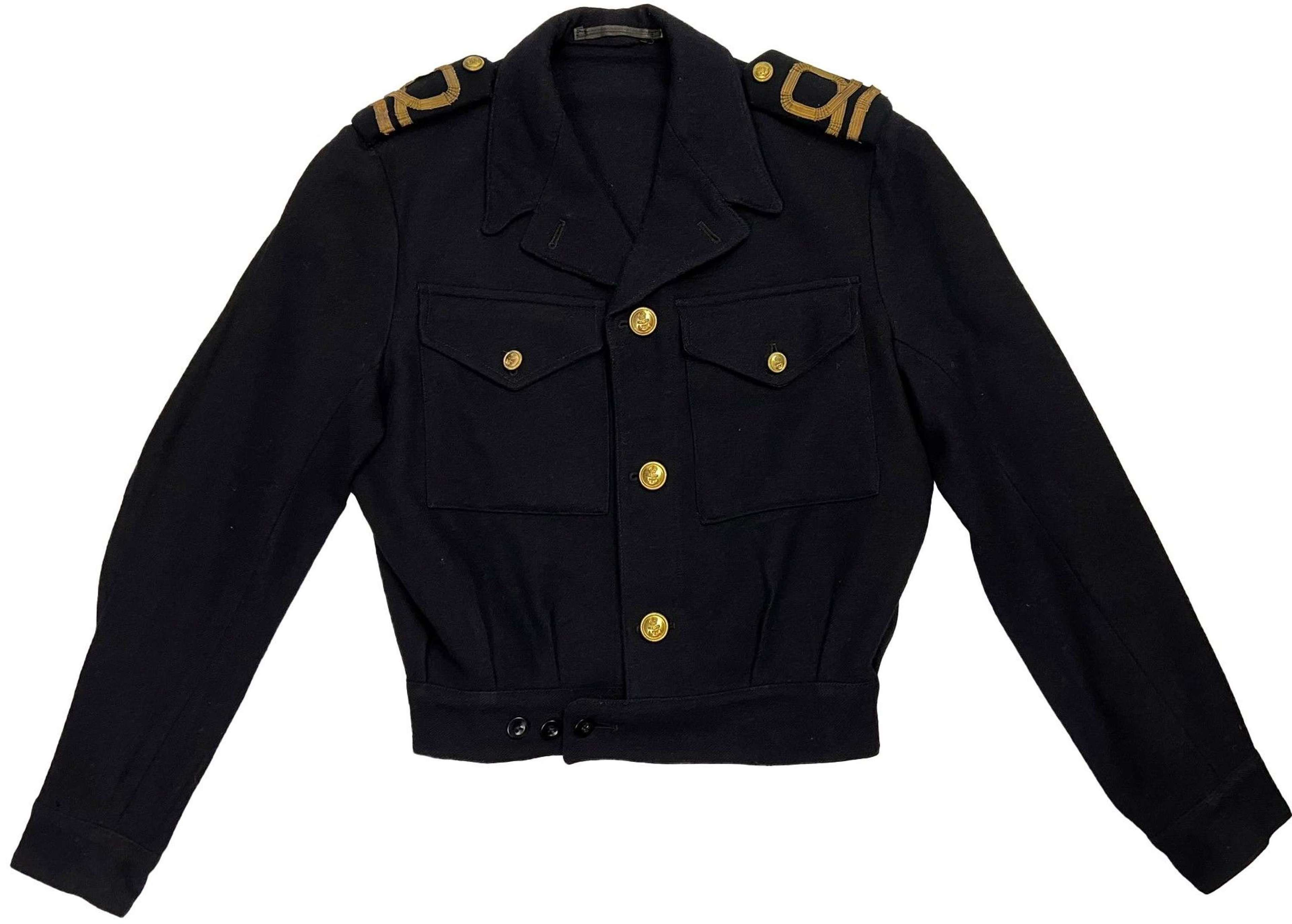 Original 1945 Dated Royal Navy Officers Blue Working Dress Blouse
