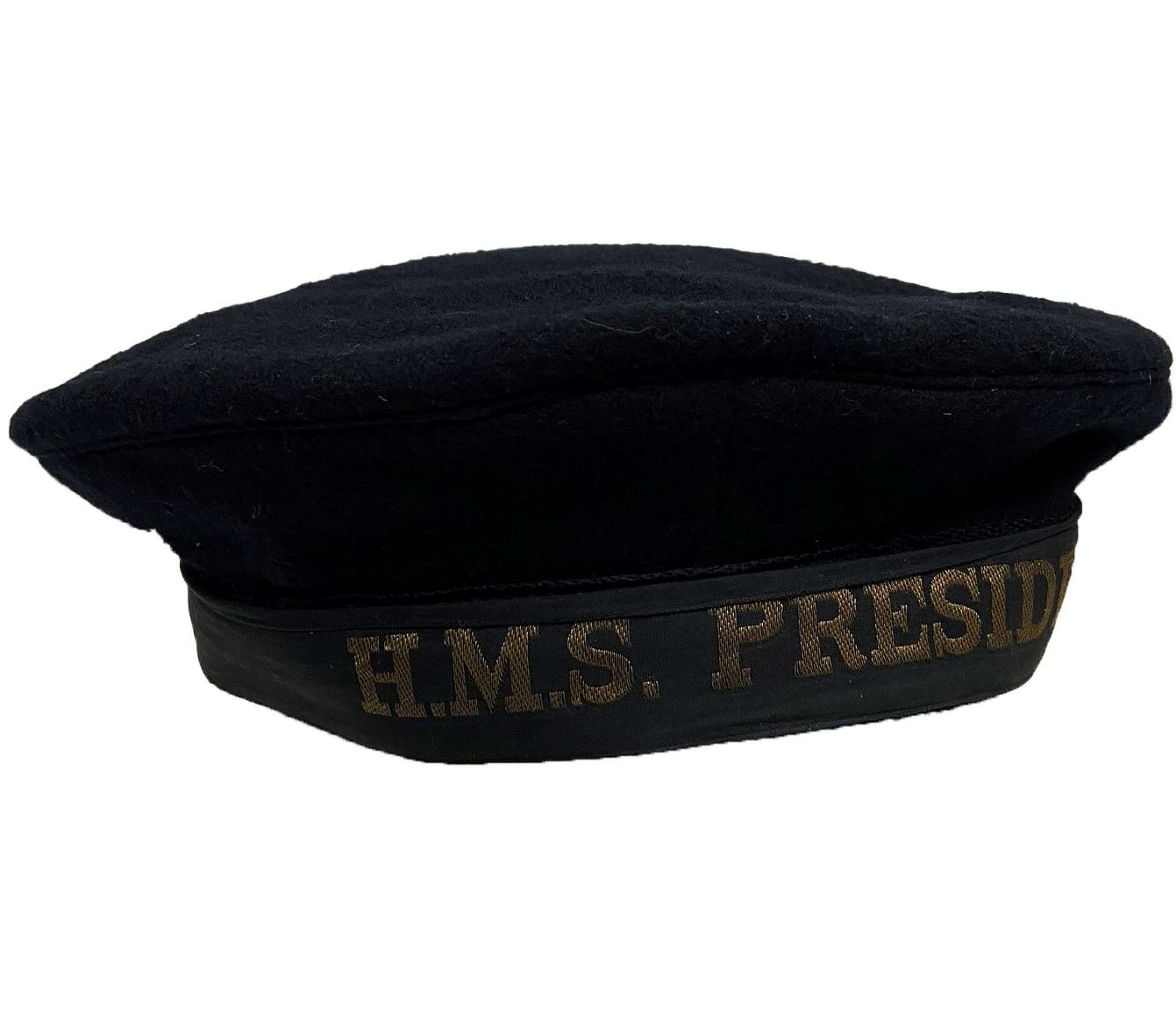 Scarce Original 1944 Dated W.R.N.S Ratings Cap - HMS President