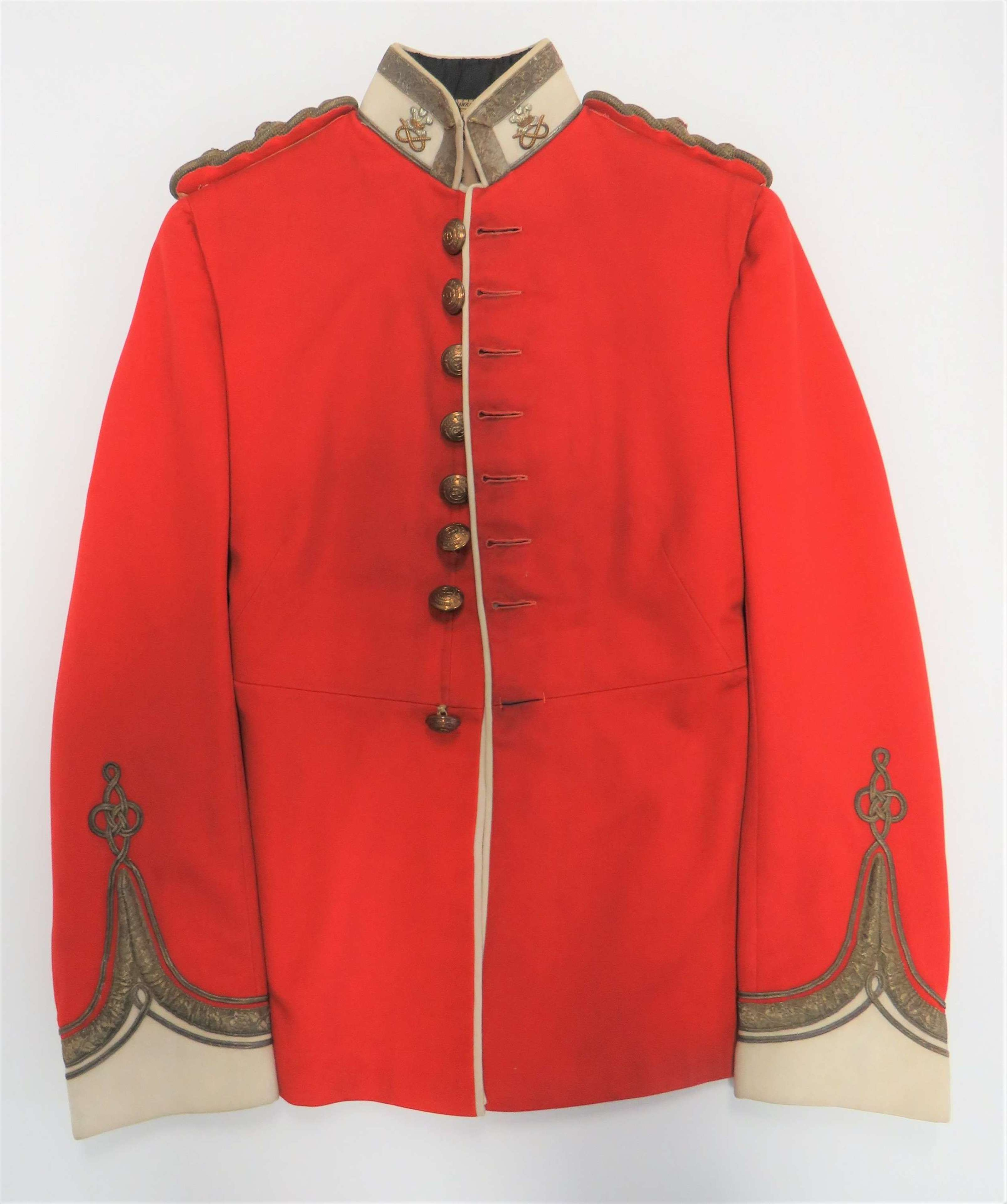 Pre WW 1 North Staffordshire Officers Scarlet Dress Tunic