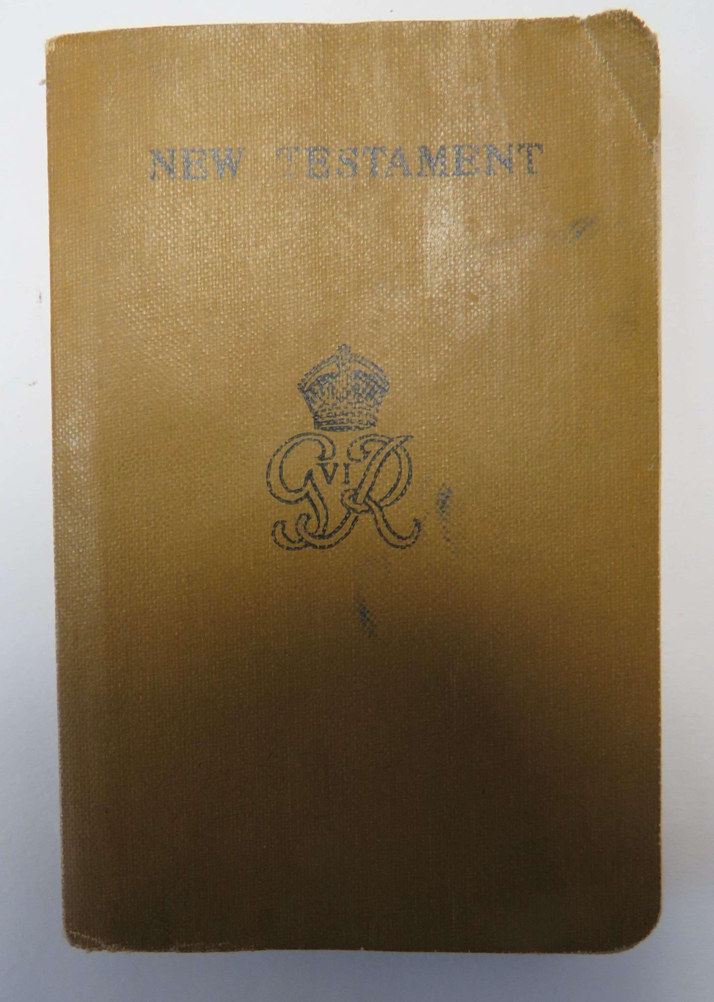 WW2 Issue New Testament Bible