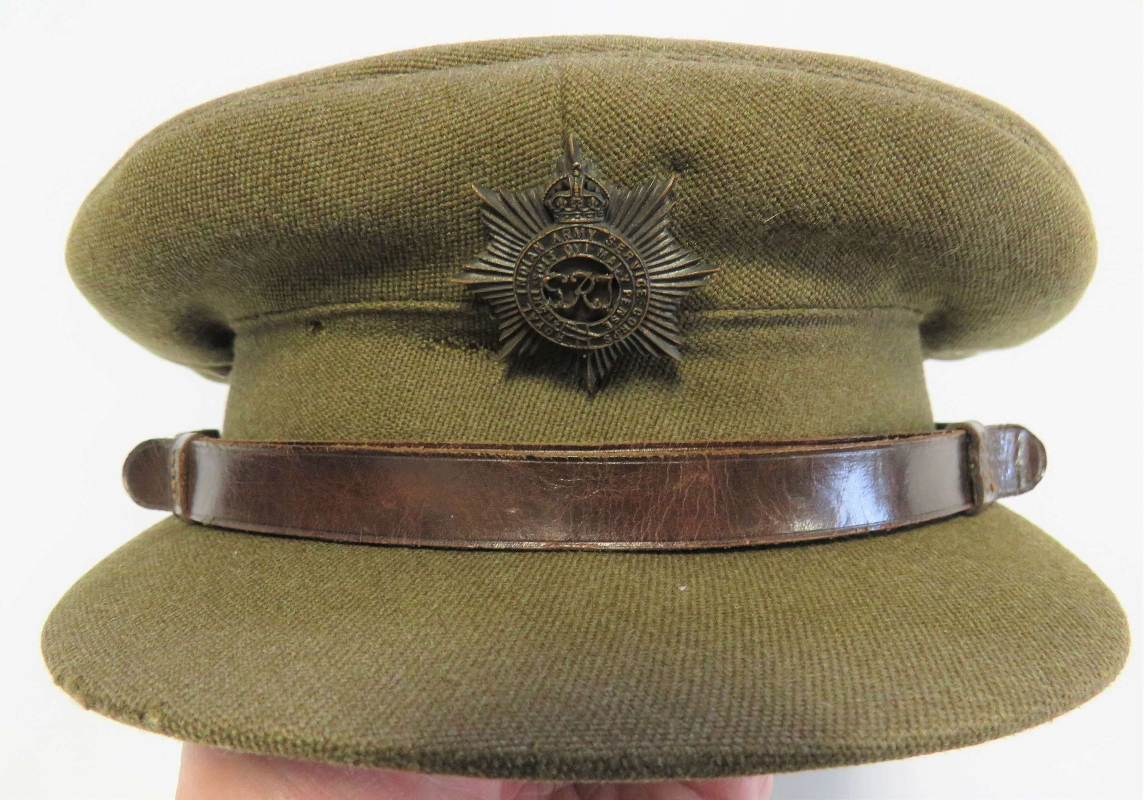 Royal Indian Army Service Corps Officers Service Dress Cap