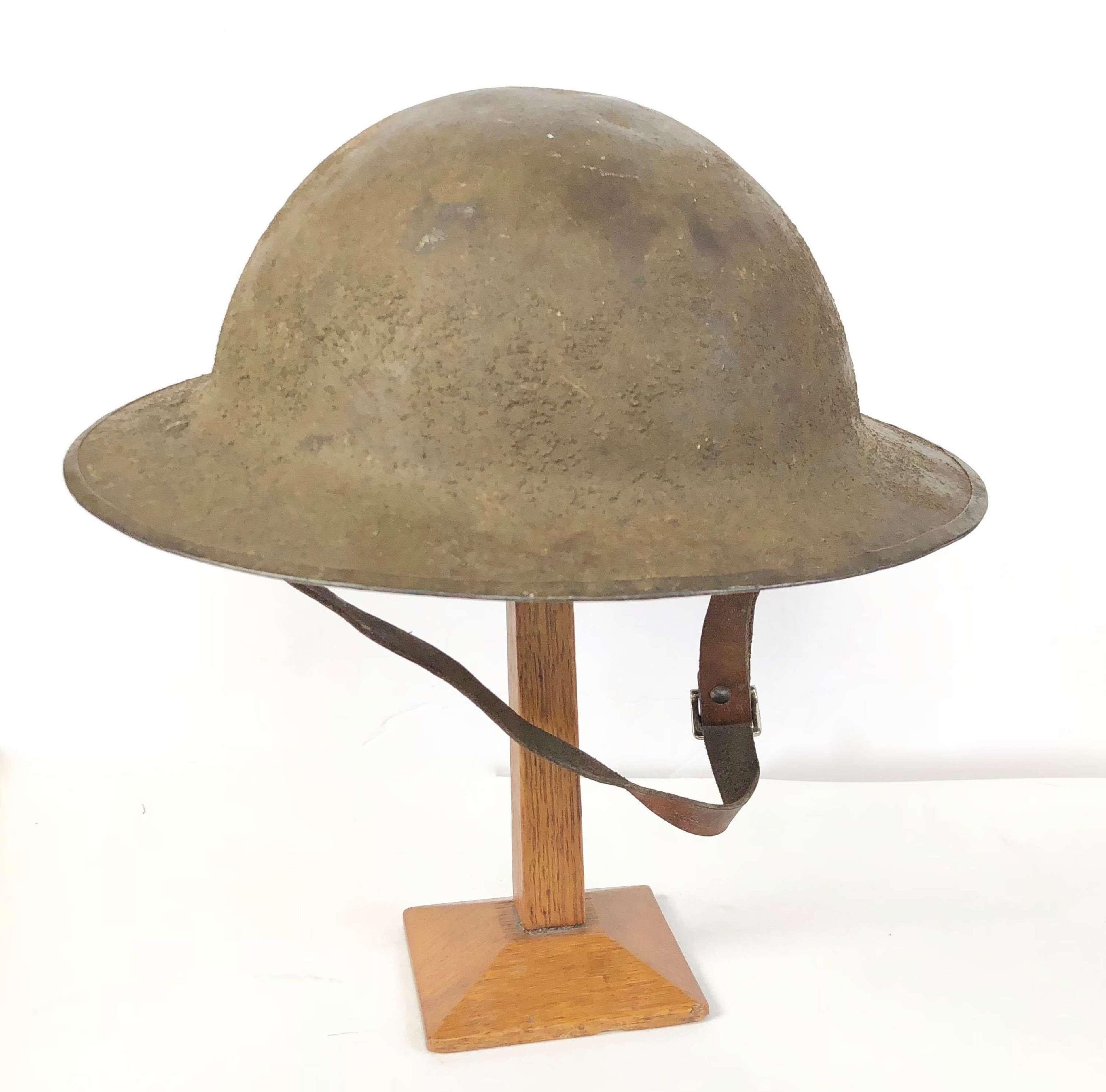WW1 Period British Army Brodie Steel Helmet.