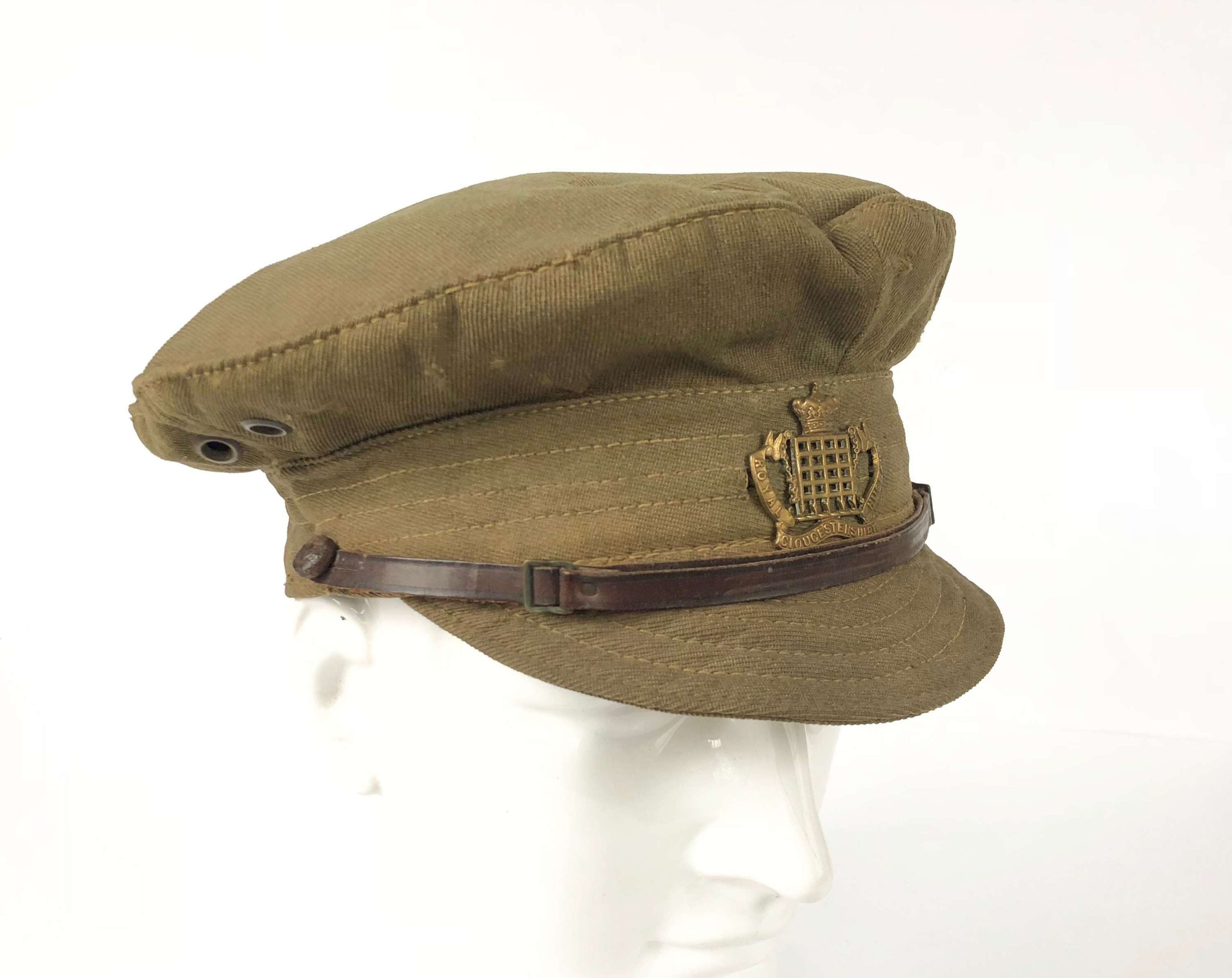WW1 Gloucestershire Hussars Yeomanry Denim Trench Cap.
