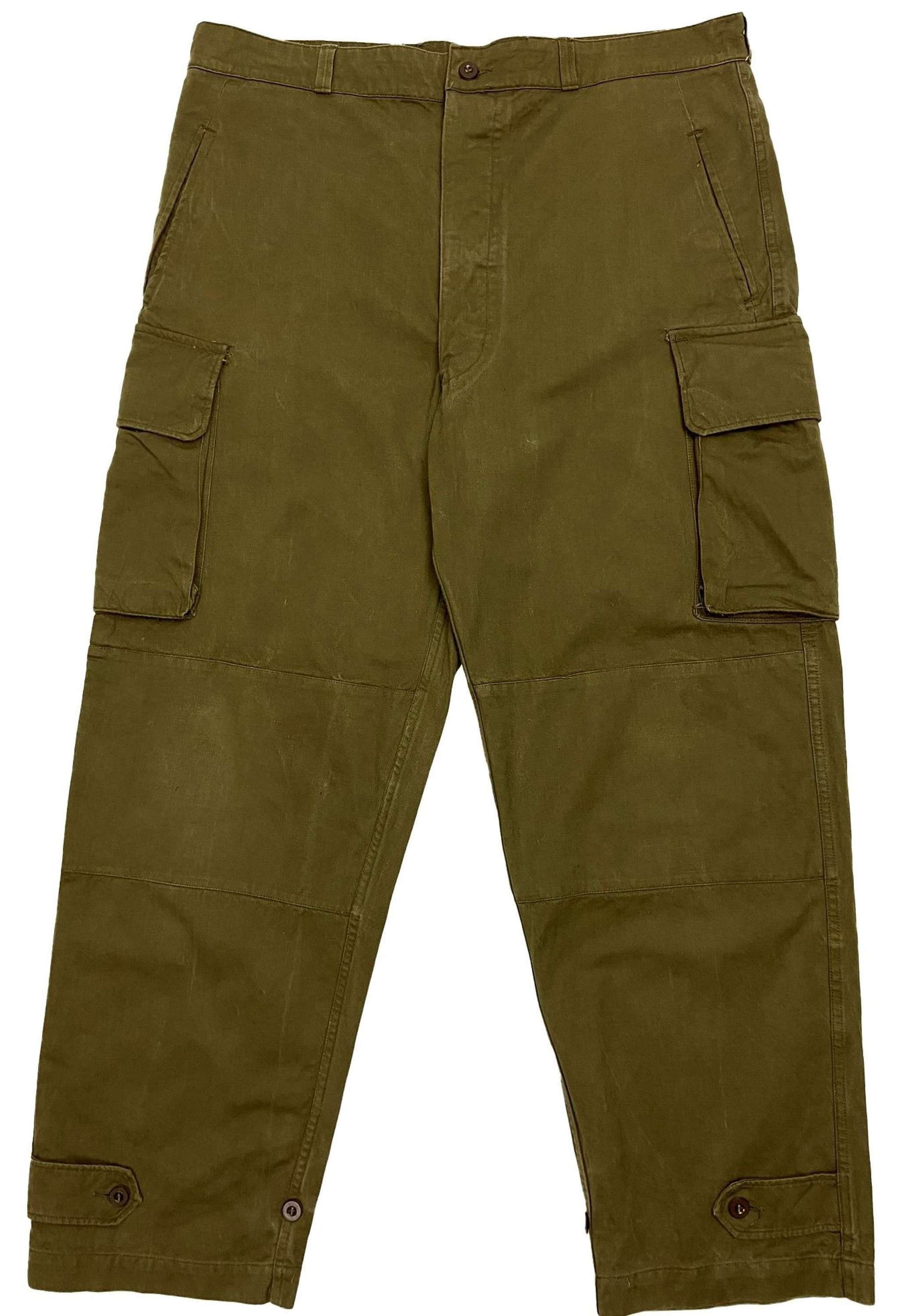 Original 1950s French Army M47 Trousers