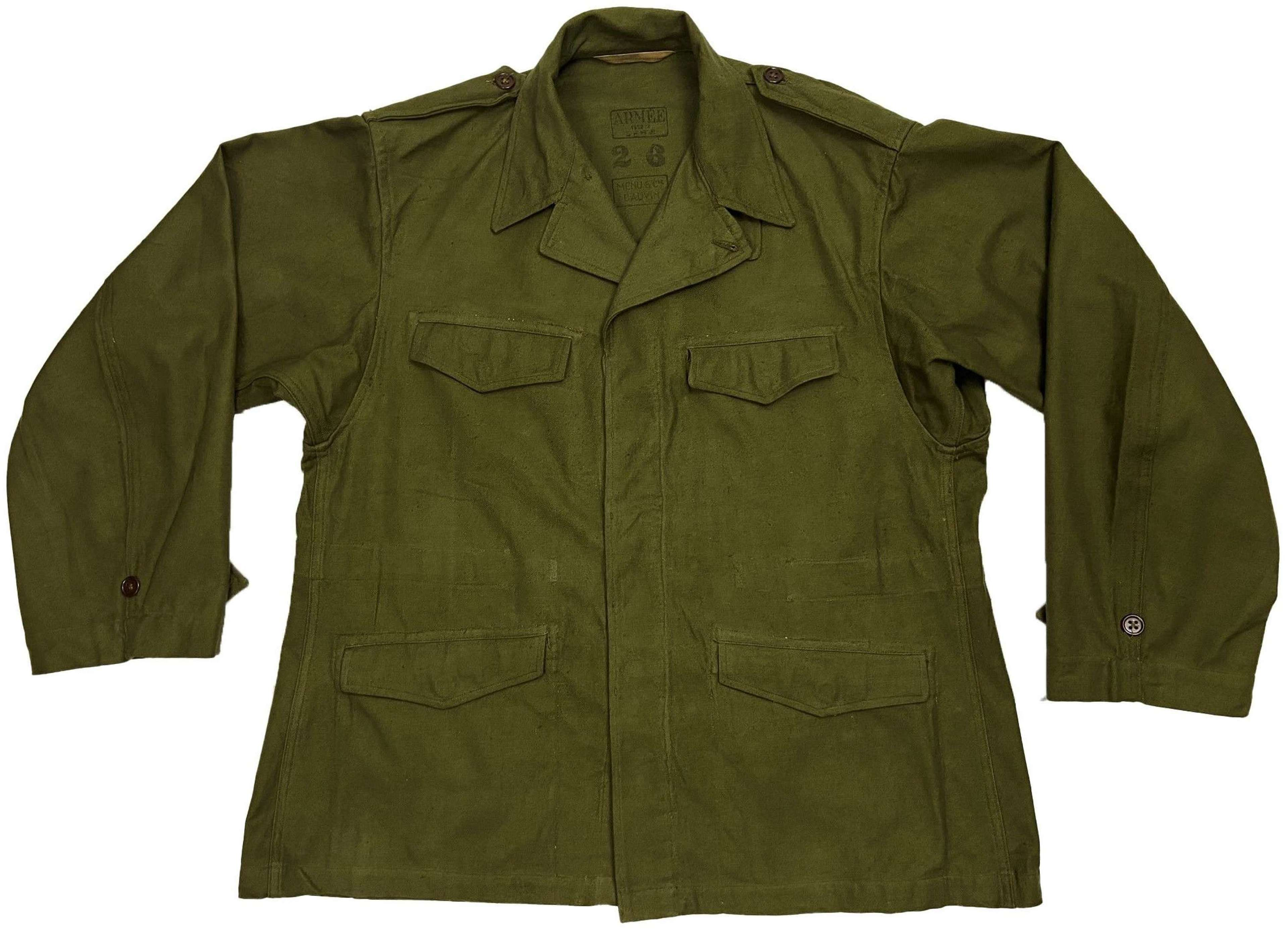 Original 1952 Dated French Army M47 Tunic