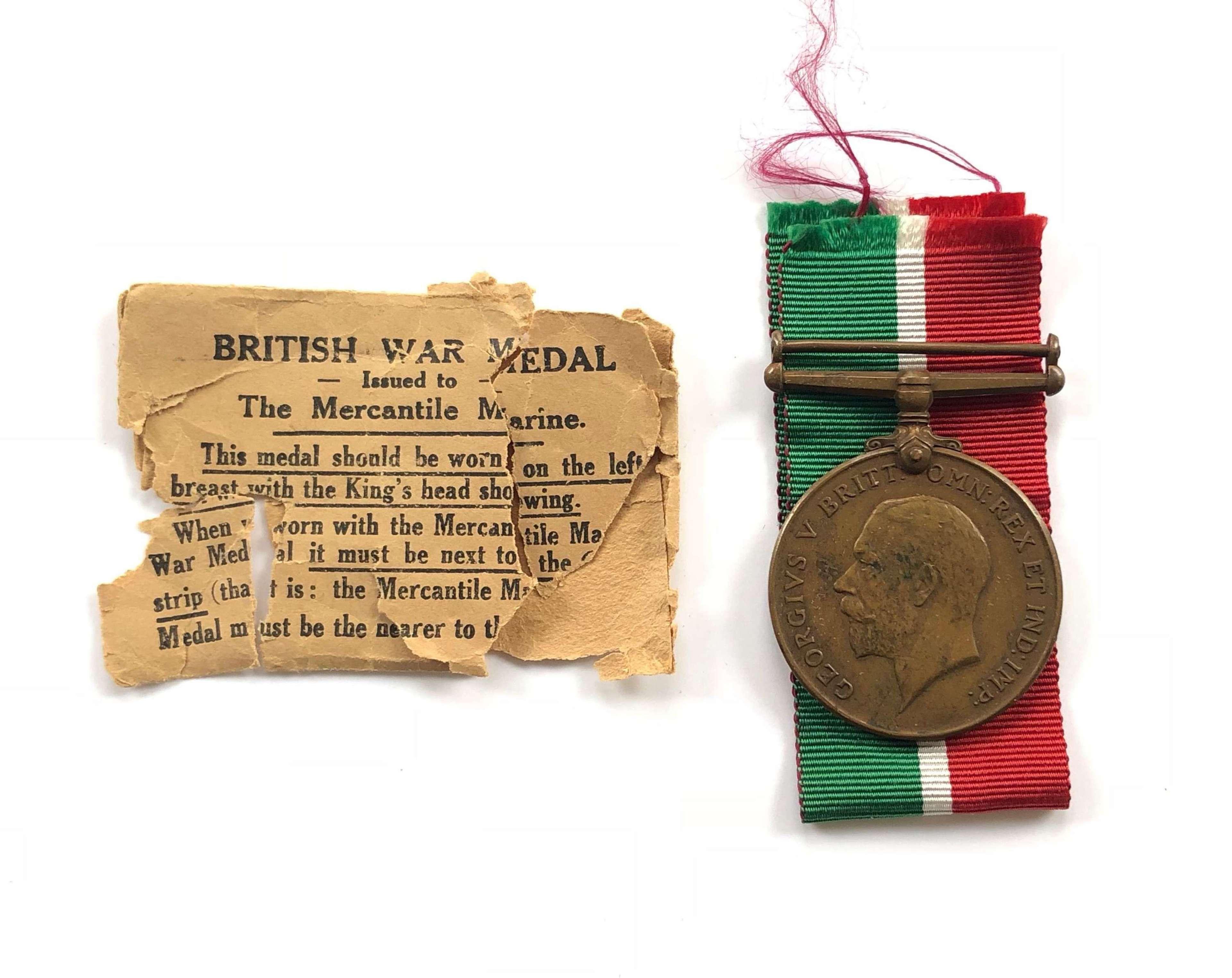 WW1 Mercantile Marine Medal.