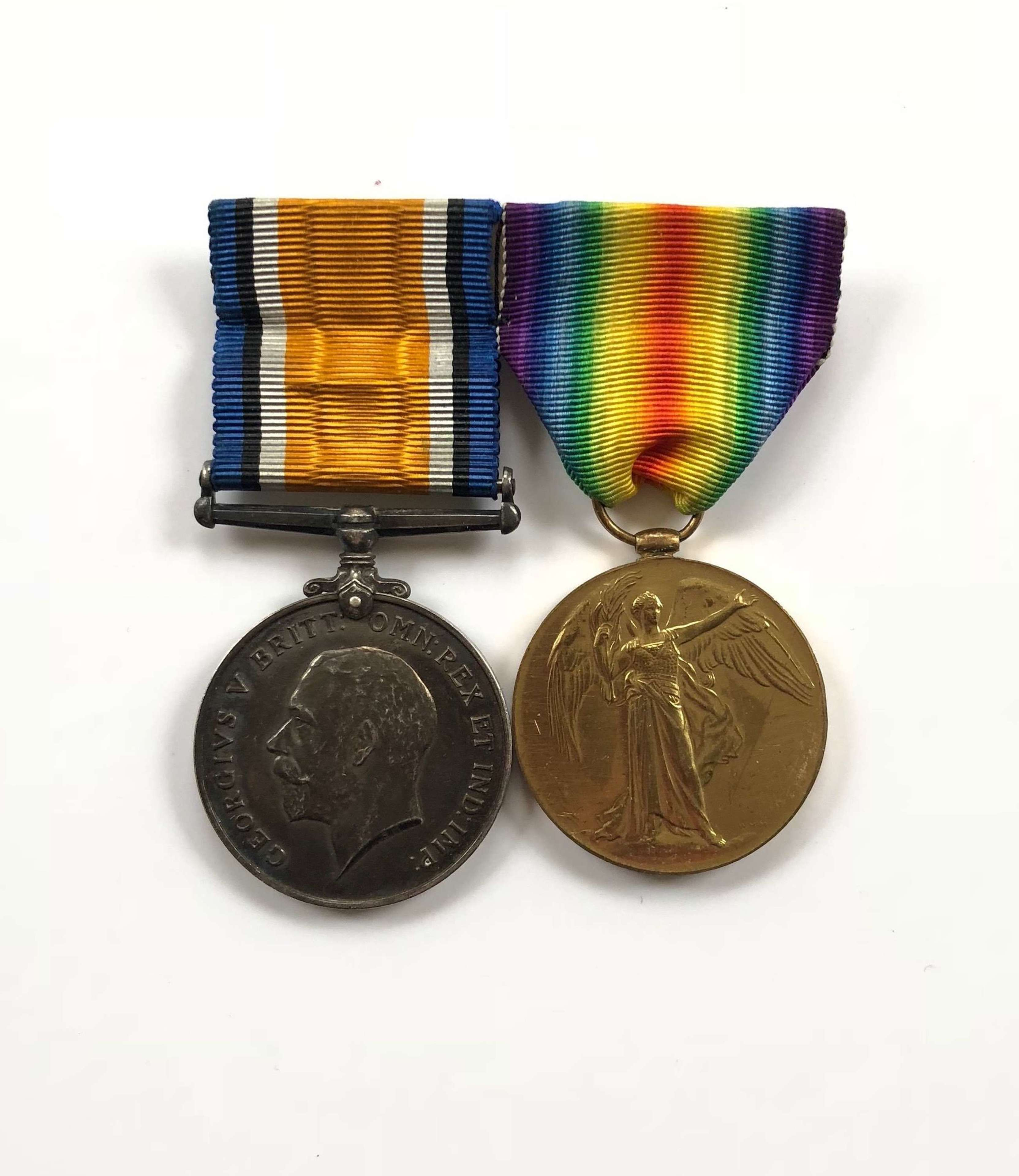 WW1 KOSB, MGC Officer Pair of Medals.